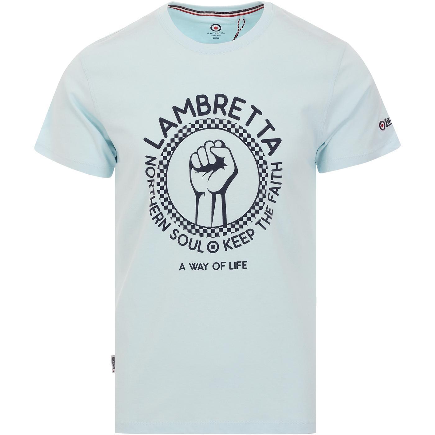 LAMBRETTA Keep The Faith Northern Soul T-Shirt