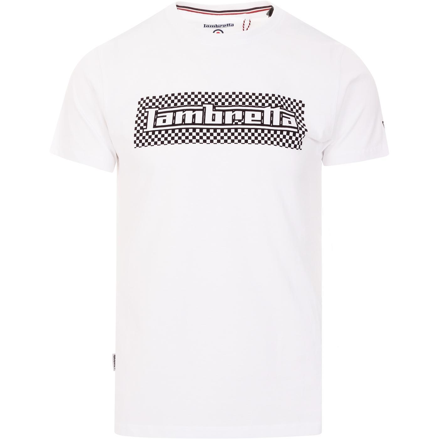 LAMBRETTA Mod Ska Checkerboard Logo Tee (White)