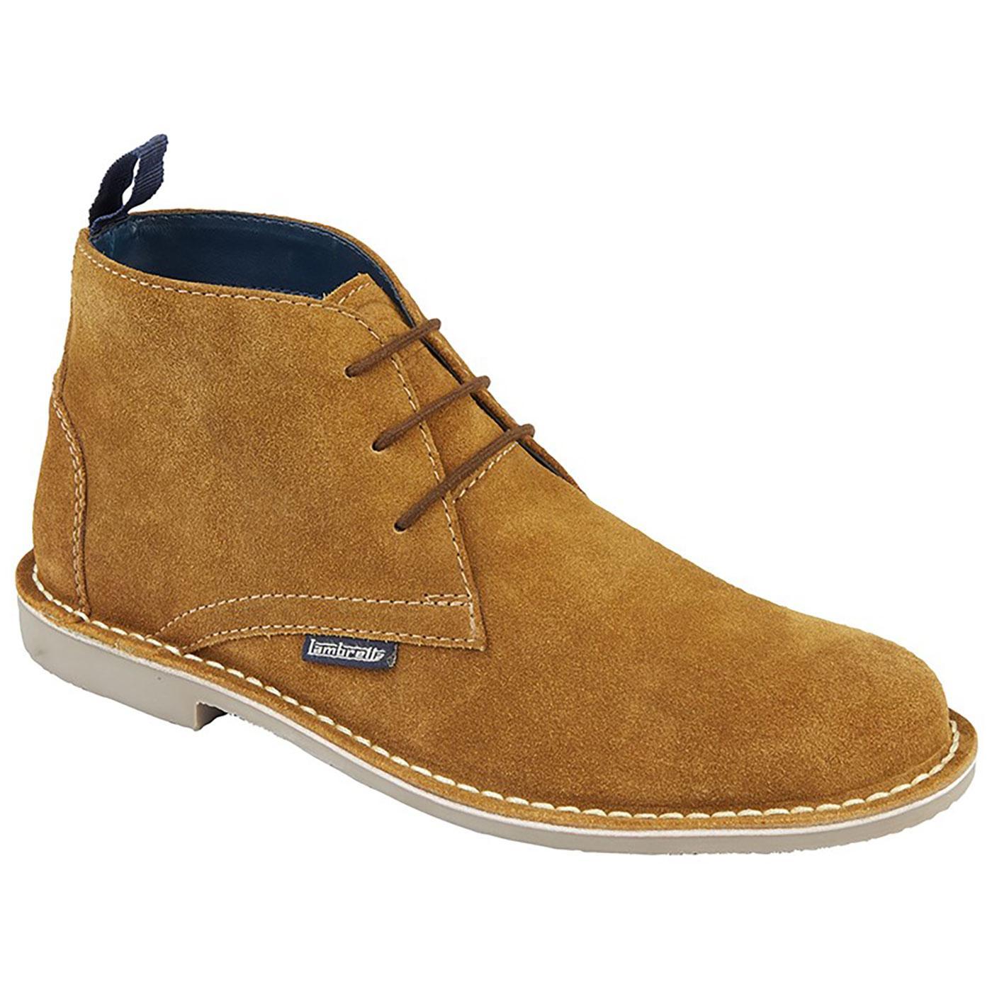 LAMBRETTA Men's 60s Mod Suede Desert Boots (Tan)
