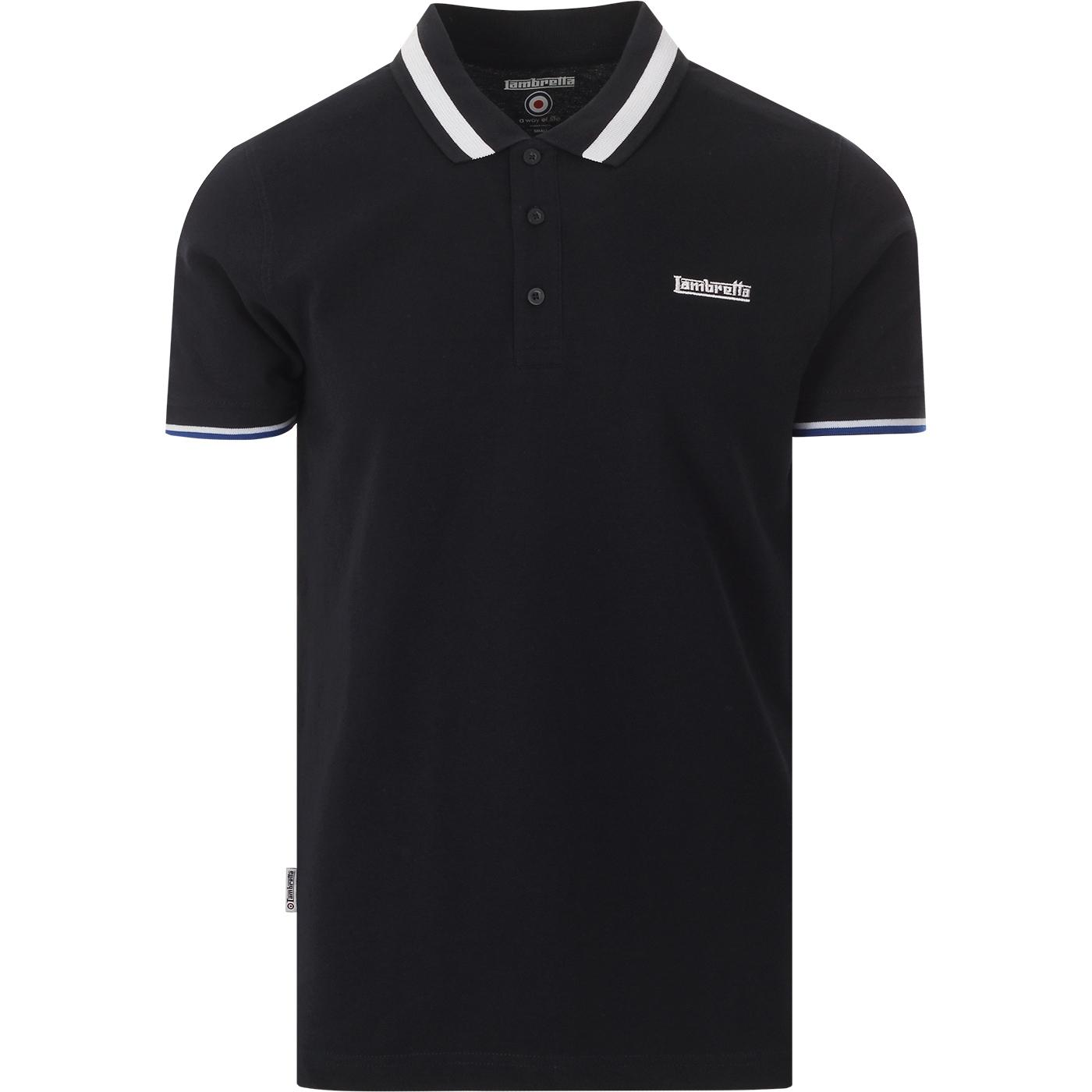 LAMBRETTA Men's Mod Autostripe Tipped Polo Top (N)