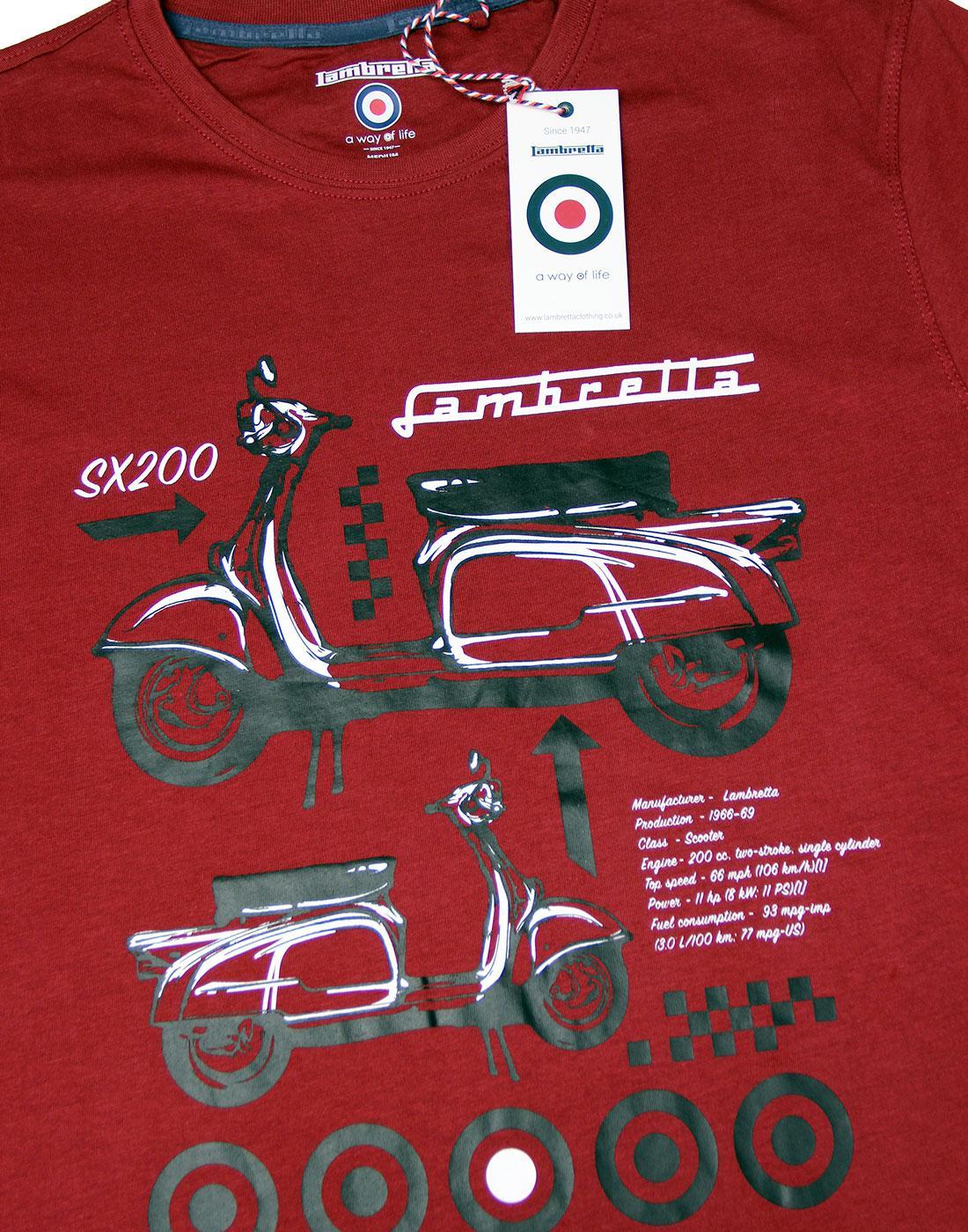 Lambretta polo shirt Scooterboy//birthday//gift//Christmas//present Retro Mod