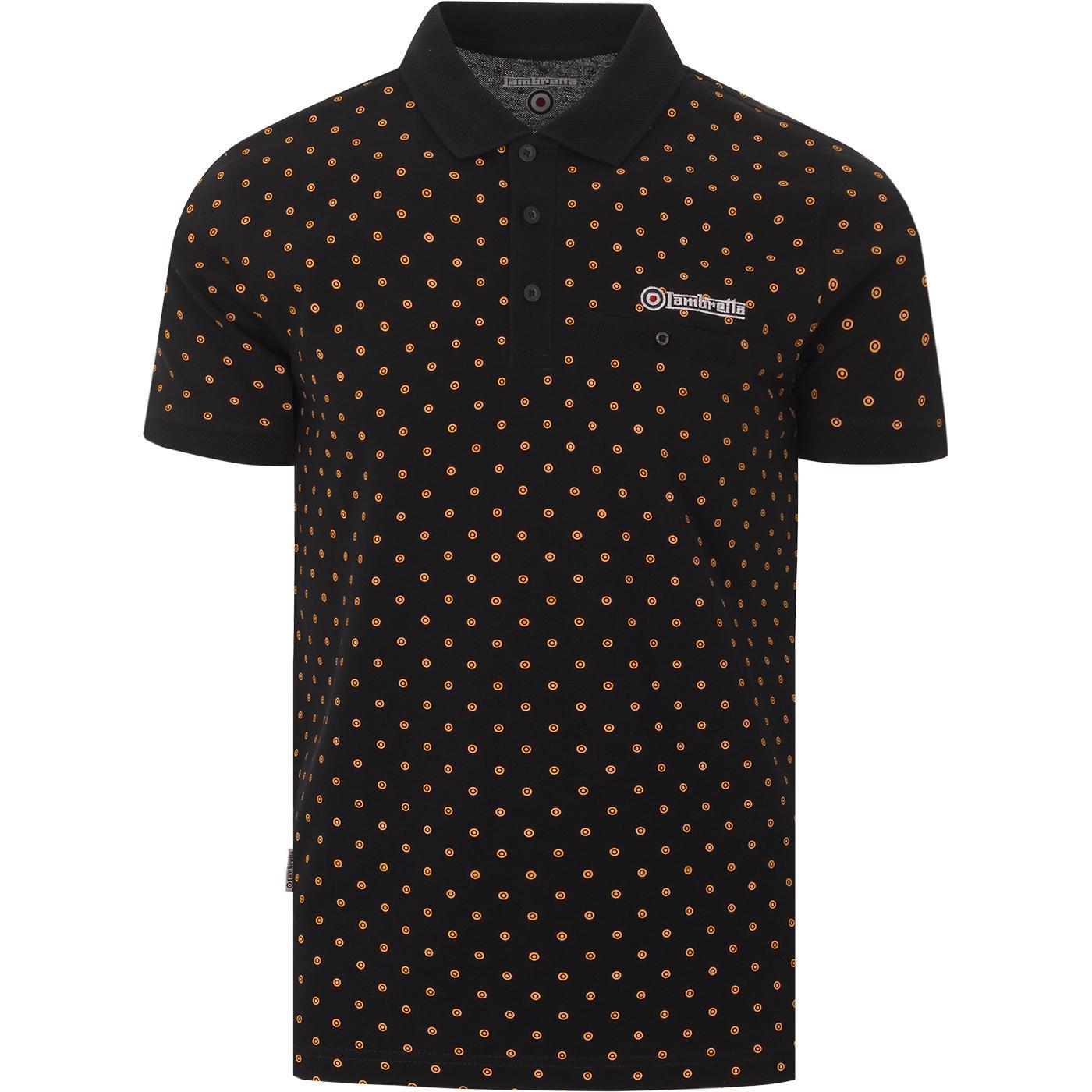 LAMBRETTA Men's Mini Mod Target Print Polo Top