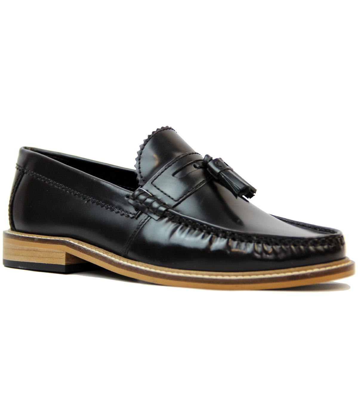 LAMBRETTA Retro Mod Hi Shine Tassel Loafer Shoes
