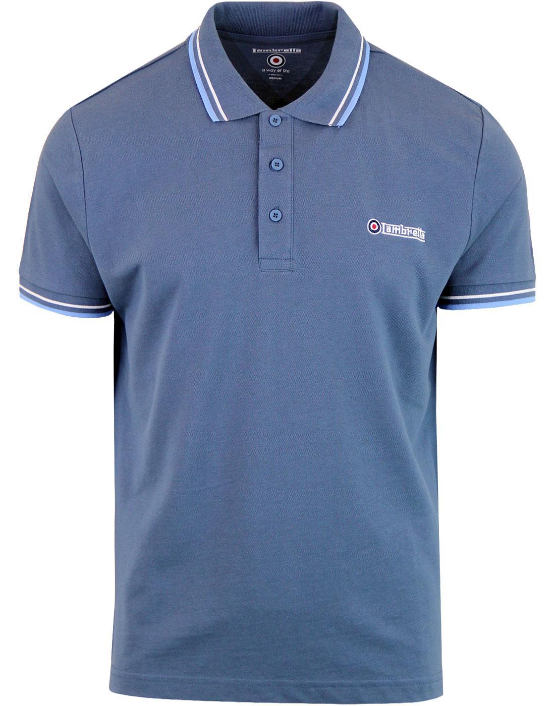 Lambretta Purple Target Logo 100/% Cotton  Polo Shirts