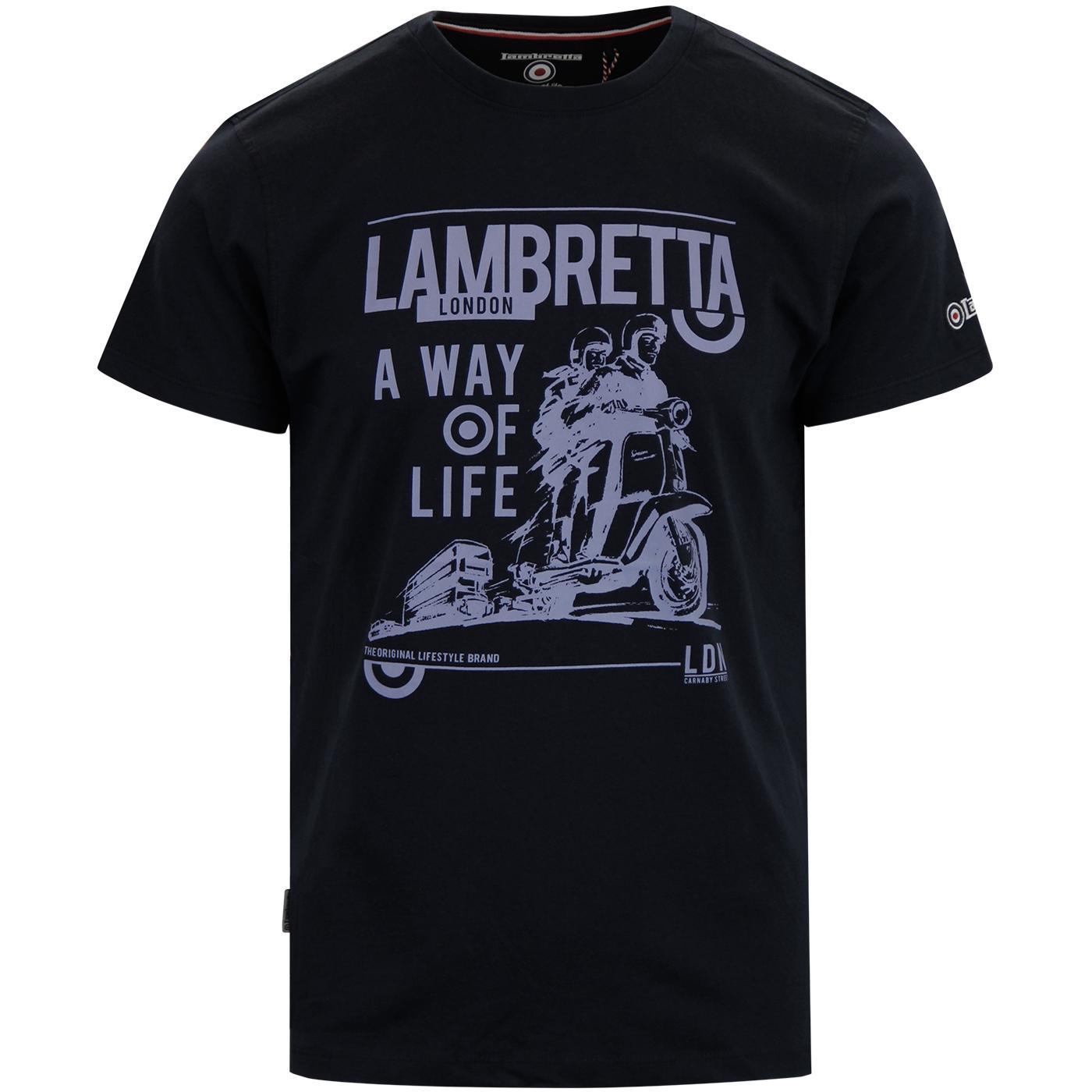 LAMBRETTA 'A Way Of Life' 60's Mod Scooter T-Shirt