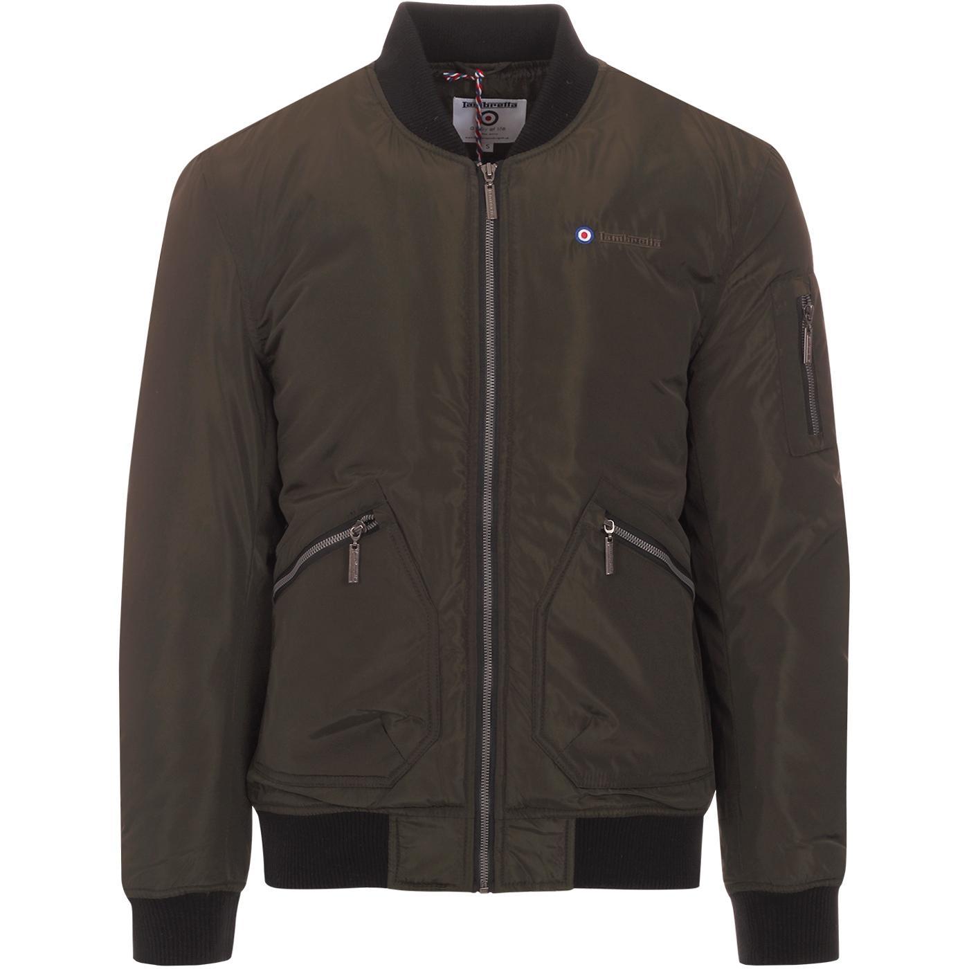 LAMBRETTA Men's Mod Revival Bomber Jacket (Khaki)