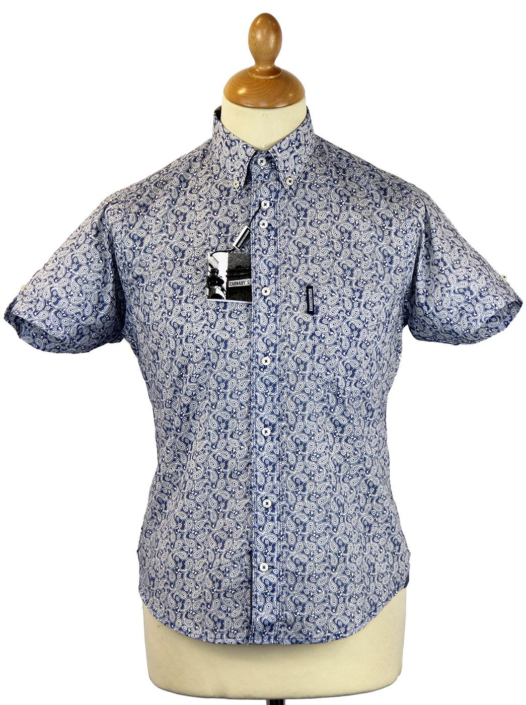 Mono Paisley LAMBRETTA Retro Mod Button Down Shirt
