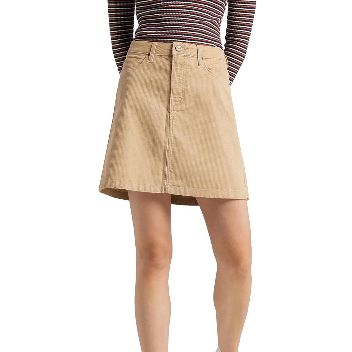 LEE Women's Retro Corduroy A-Line Mini Skirt C