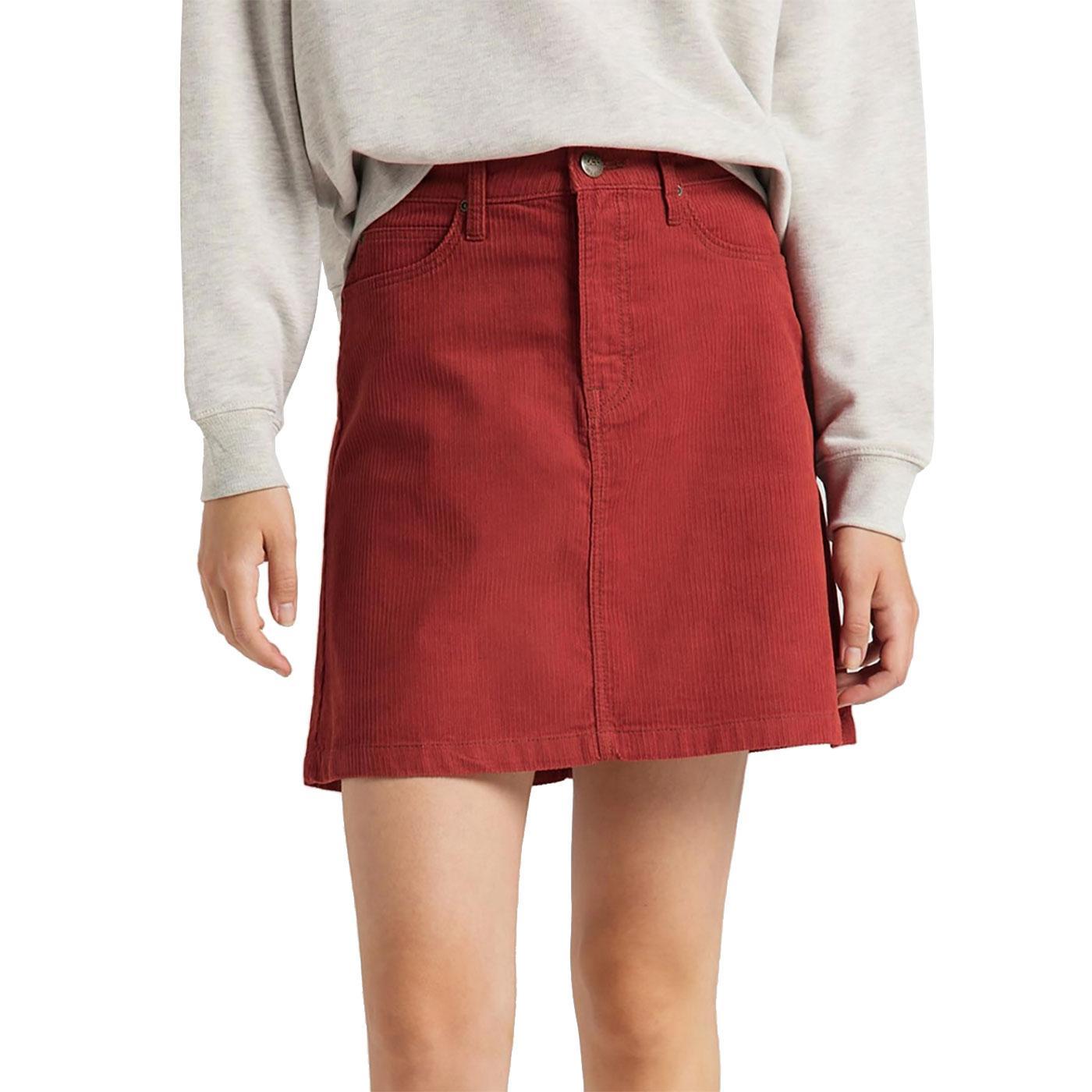 LEE Women's Retro Corduroy A-Line Mini Skirt RO