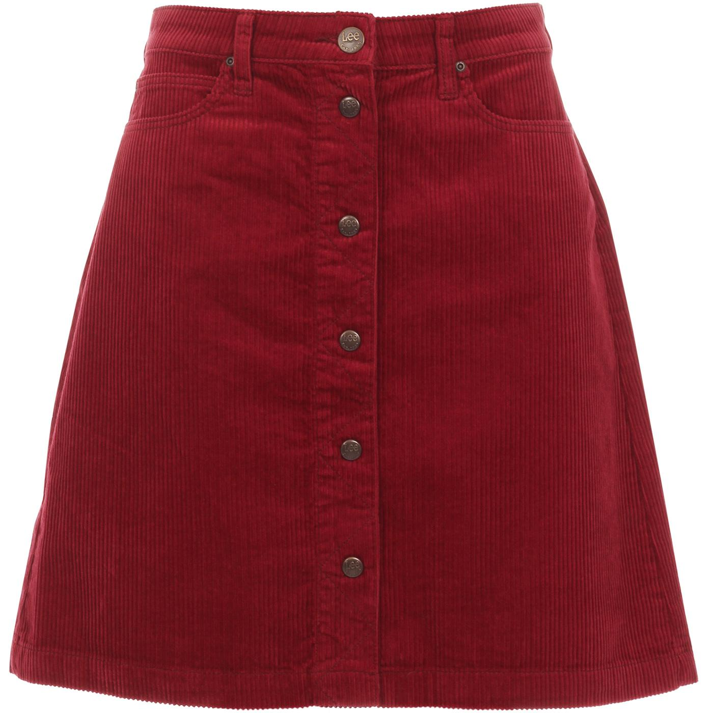 LEE JEANS Womens Retro Cord A-Line Mini Skirt (BR)