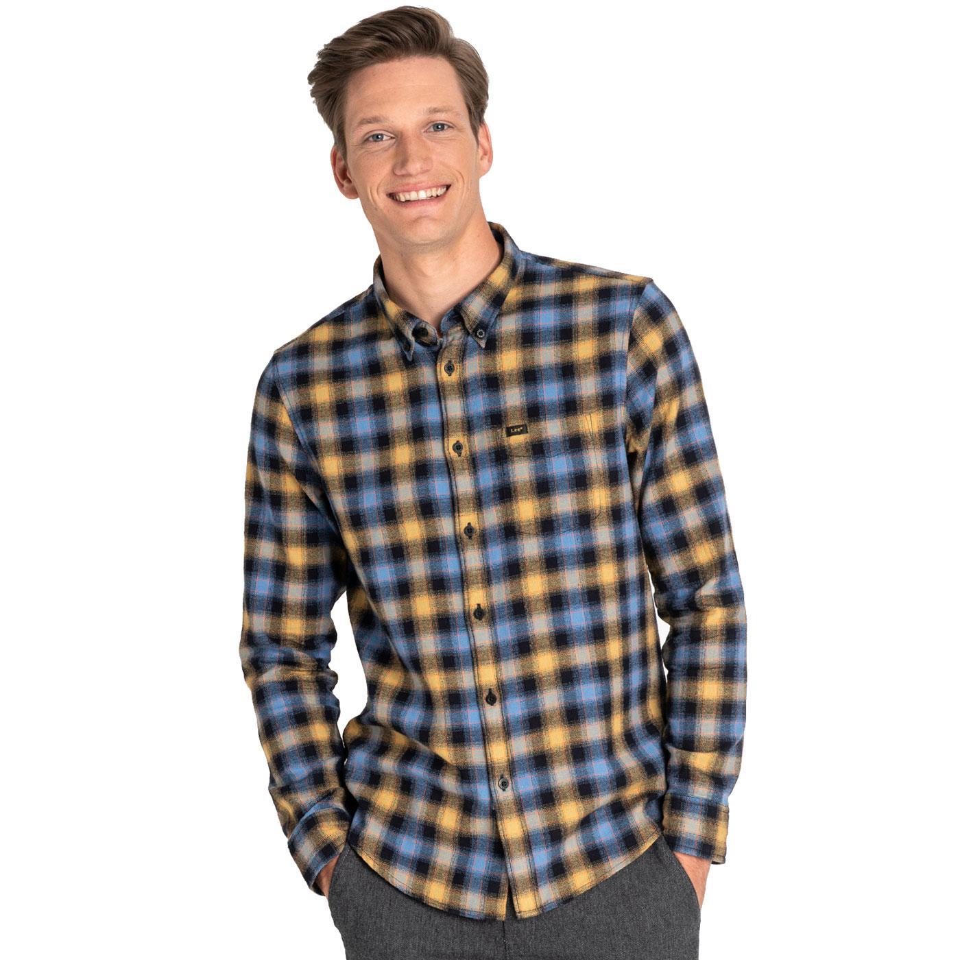 LEE JEANS Men's Retro Button Down Check Shirt FB