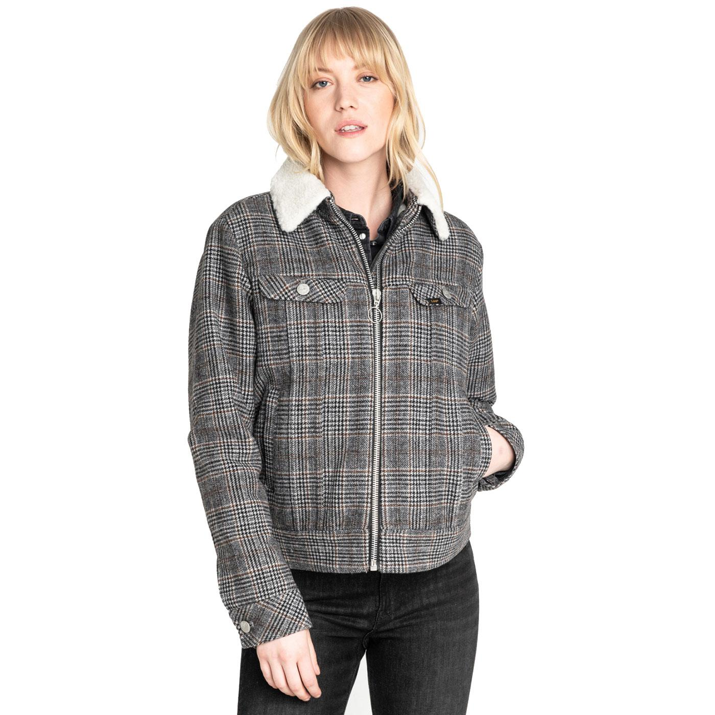 LEE JEANS Women's Retro POW Check Sherpa Jacket