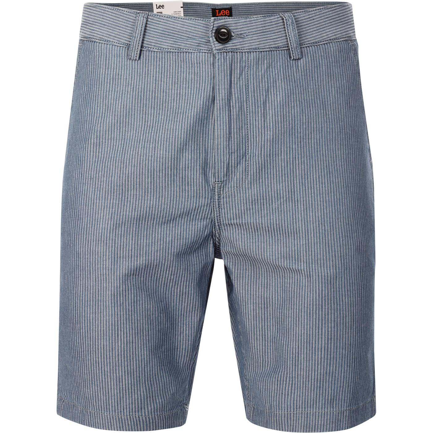 LEE Men's Retro Pinstripe Chino Shorts (Indigo)