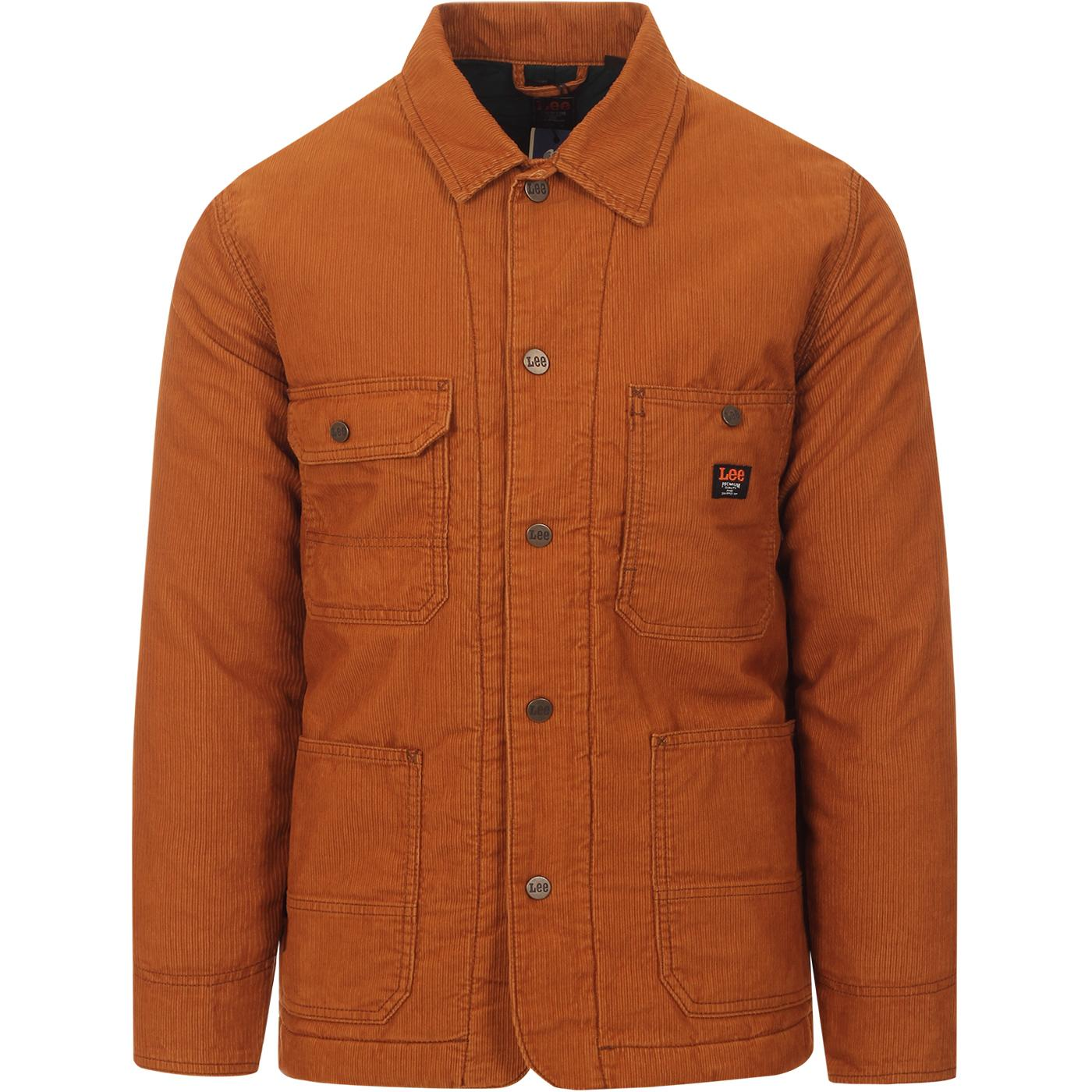 LEE Retro 70s Winter Cord Quilted Loco Jacket TAN