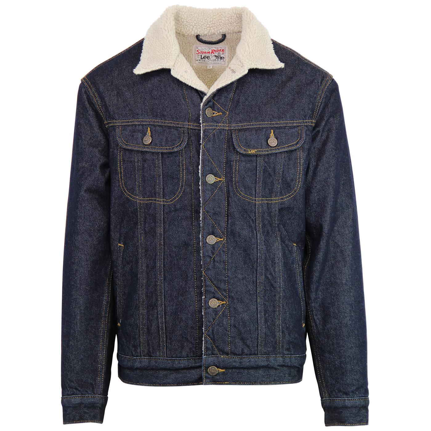 Storm Rider LEE Men's Retro Sherpa Denim Jacket DR
