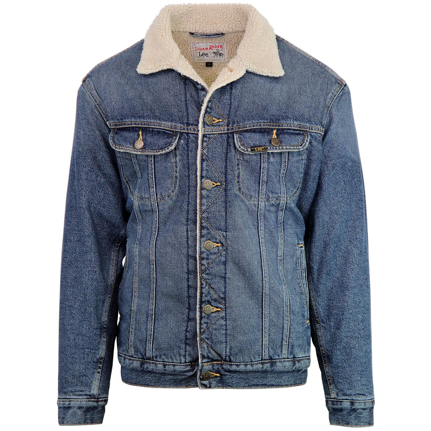 Storm Rider LEE Men's Retro Sherpa Denim Jacket VW