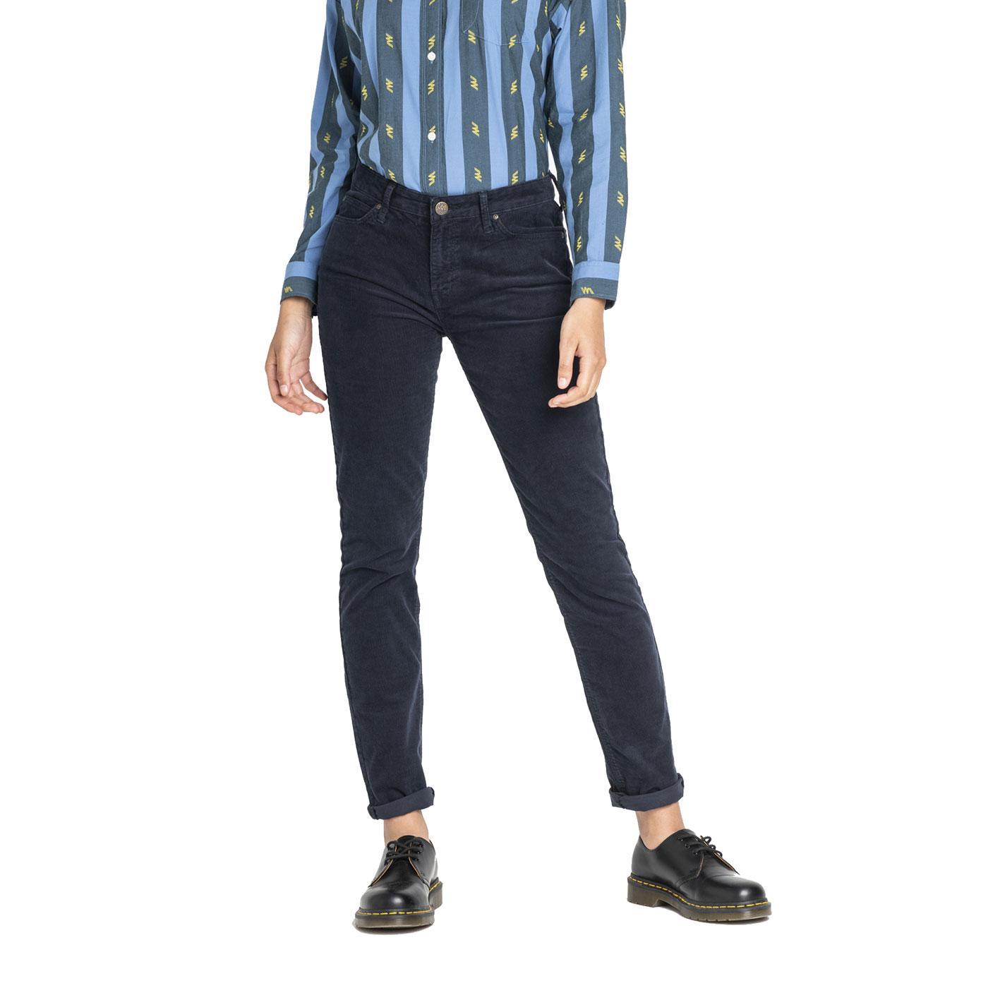 Elly LEE JEANS Womens Slim Cord Jeans MARINE