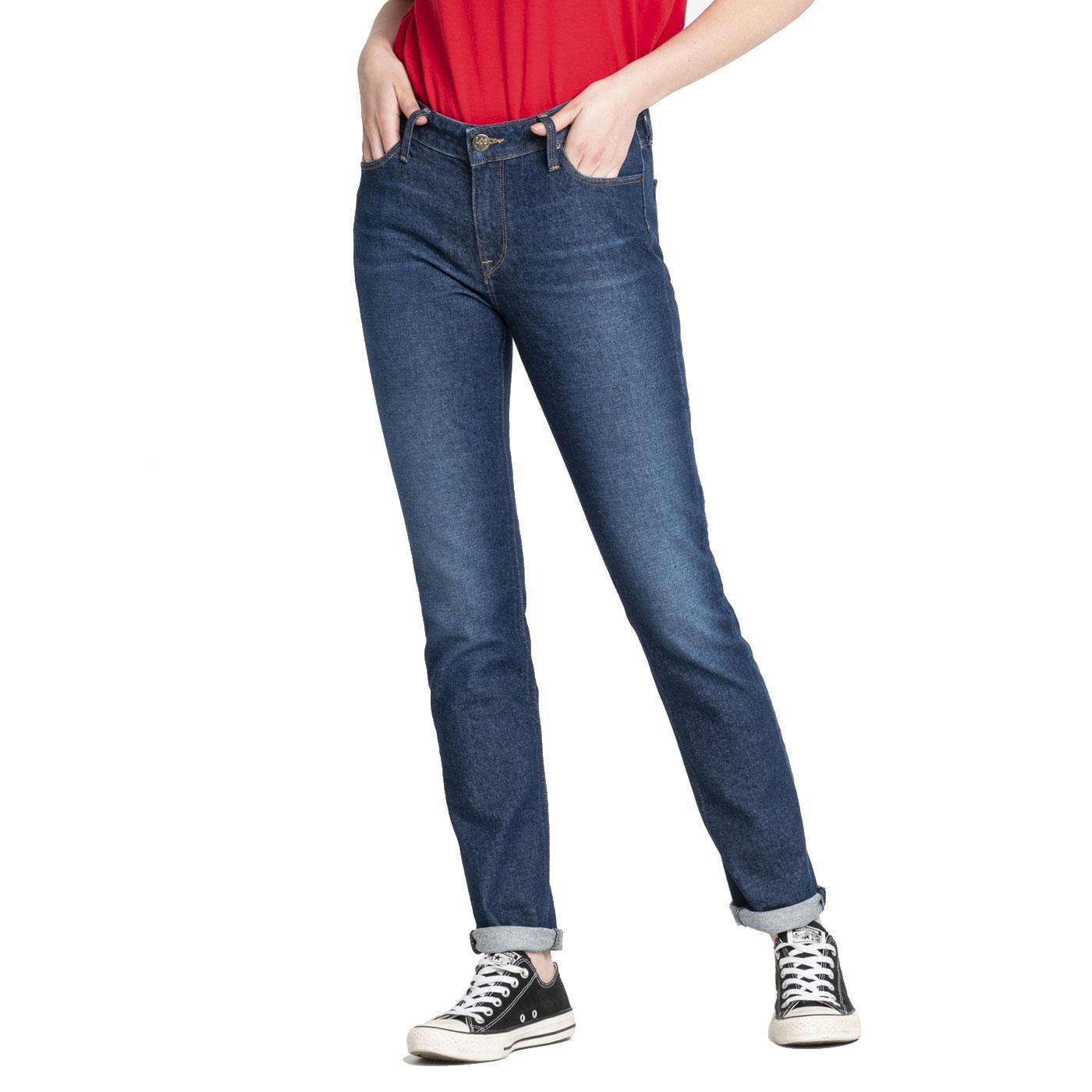 Elly LEE JEANS Womens Slim Denim Jeans DARK GARNER