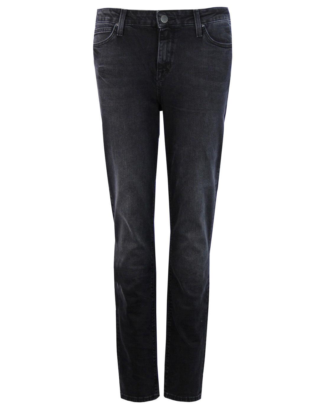 Elly LEE High Waist Slim Straight Denim Jeans (DR)