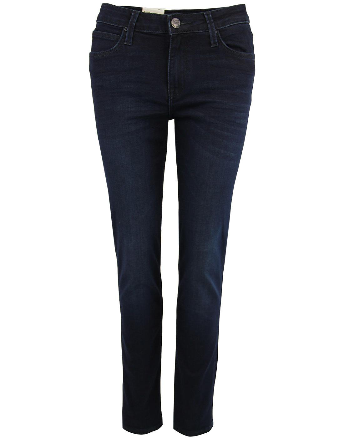 Elly LEE High Waist Slim Denim Jeans SUPER DARK