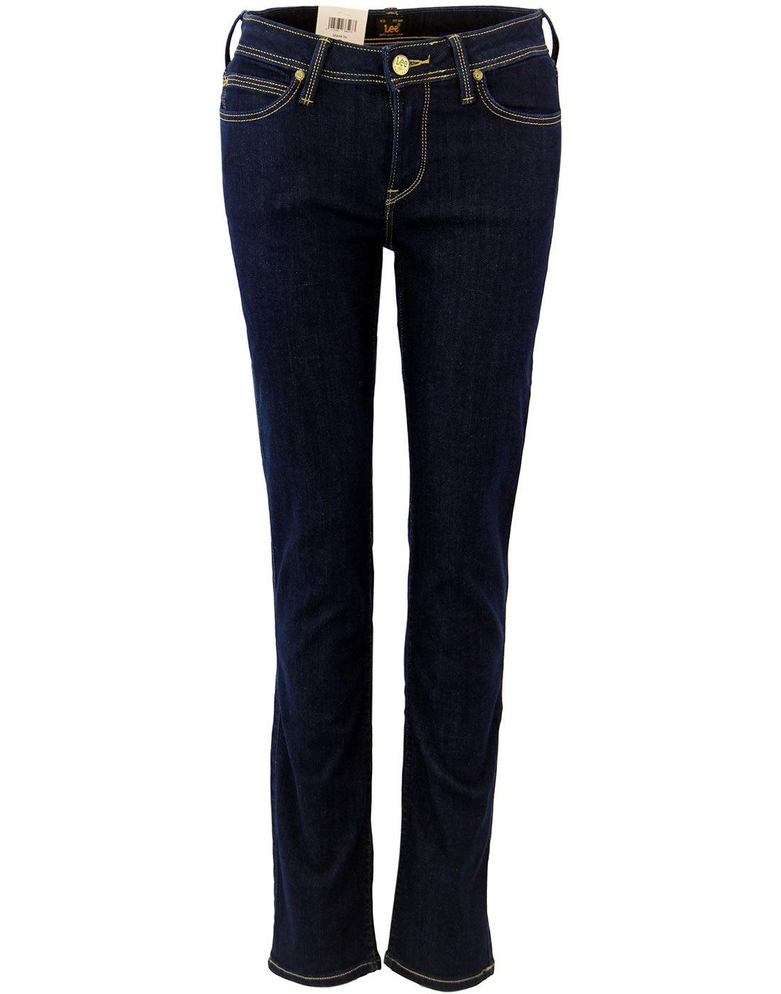 emlyn lee retro indie straight tapered fit denim jeans solid blue. Black Bedroom Furniture Sets. Home Design Ideas