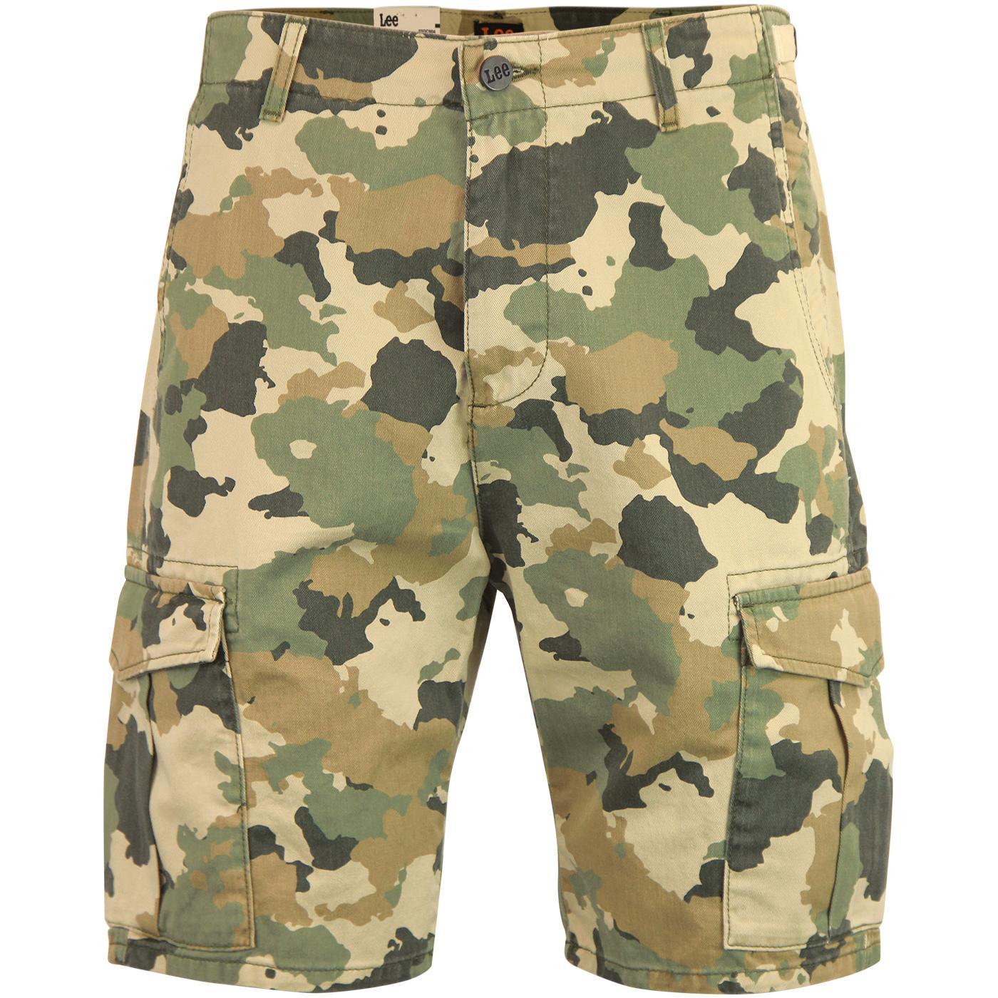 LEE JEANS Retro Military Camo Fatigue Shorts