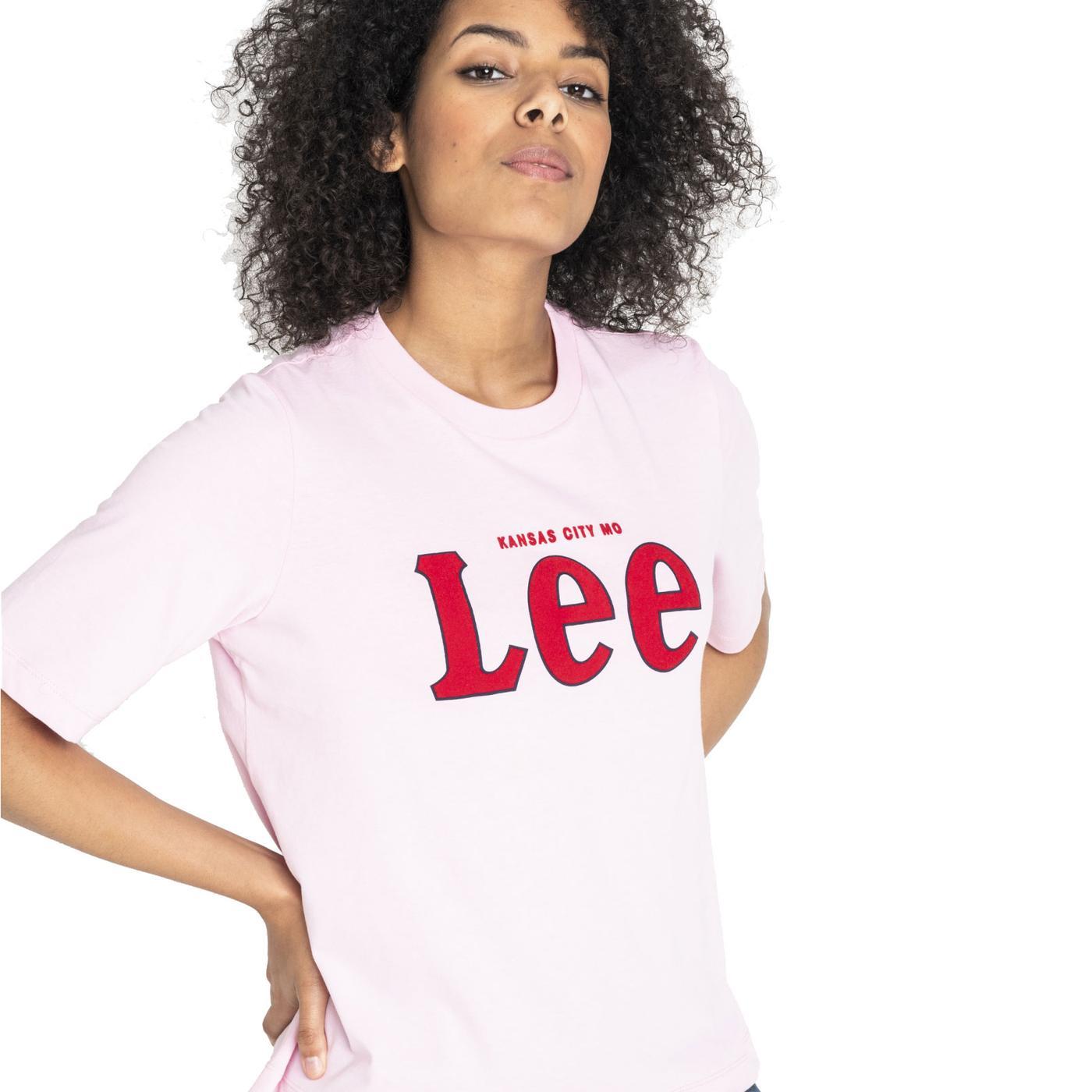 LEE JEANS Women's 1/2 Sleeve Retro Logo T-Shirt FP