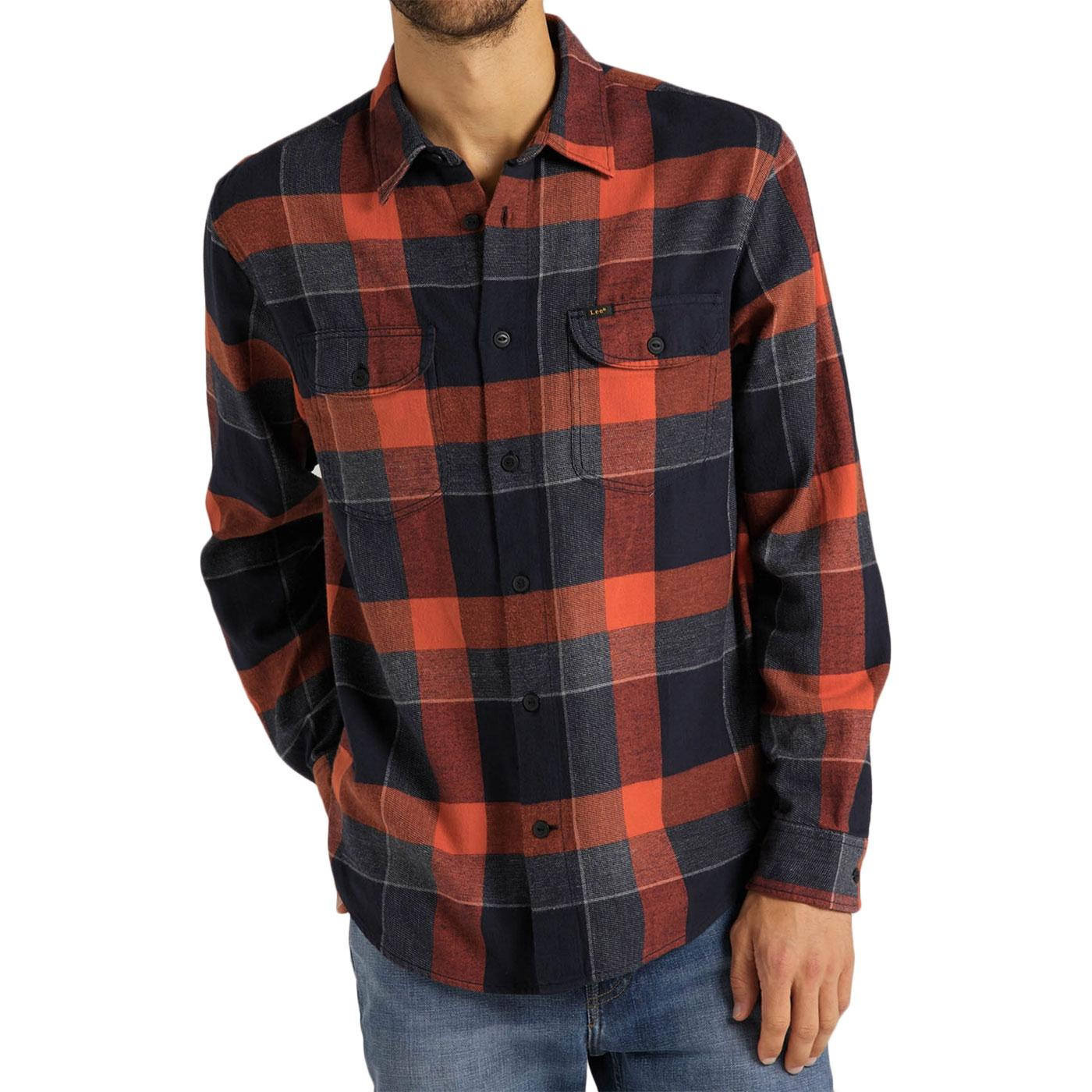 LEE JEANS Retro Mod Texture Check Worker Shirt