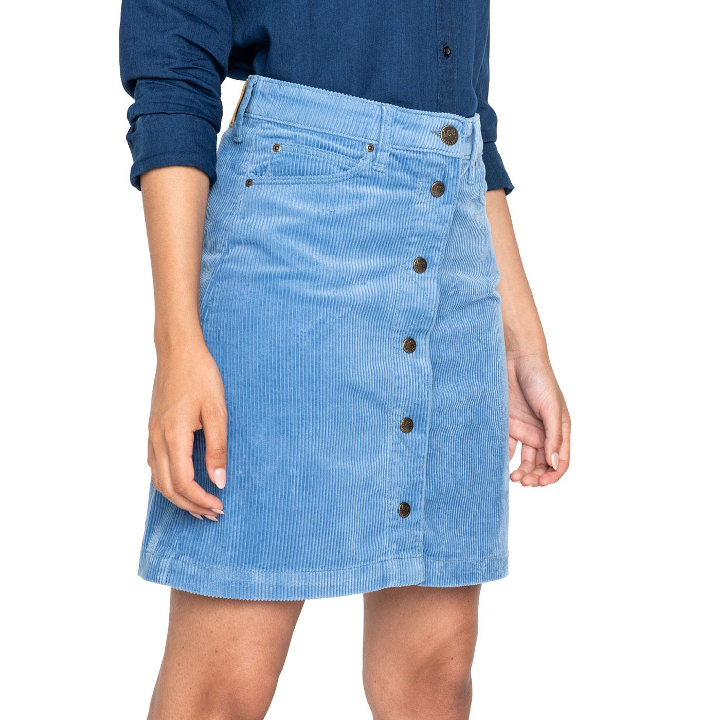 LEE JEANS Womens Retro Cord A-Line Mini Skirt (FB)