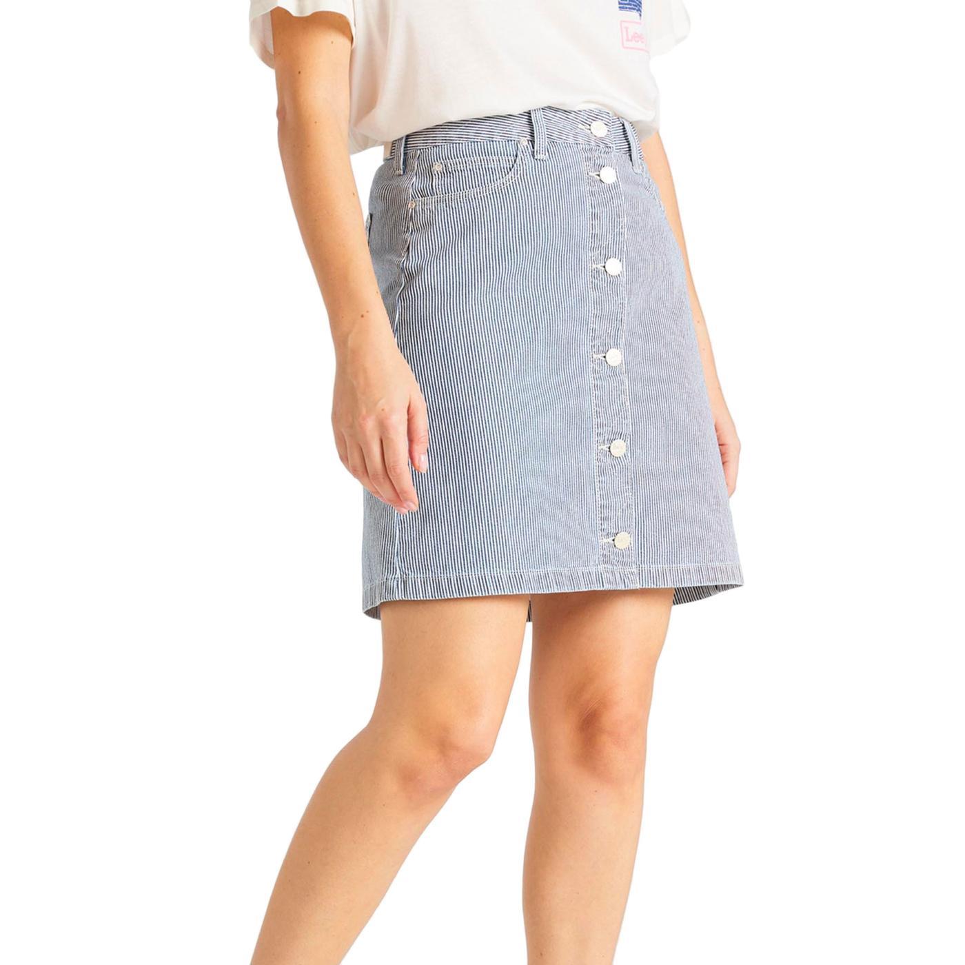 LEE JEANS Retro Hickory Stripe A-line Mini Skirt