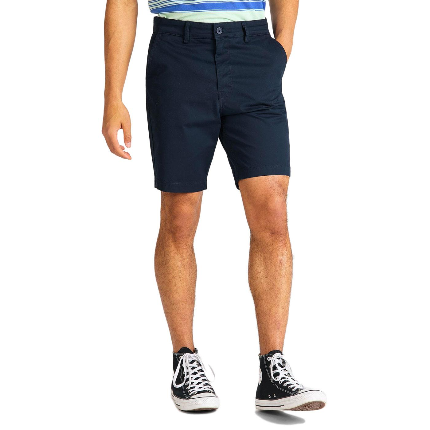 LEE JEANS Men's Retro Slim Fit Chino Shorts (Navy)