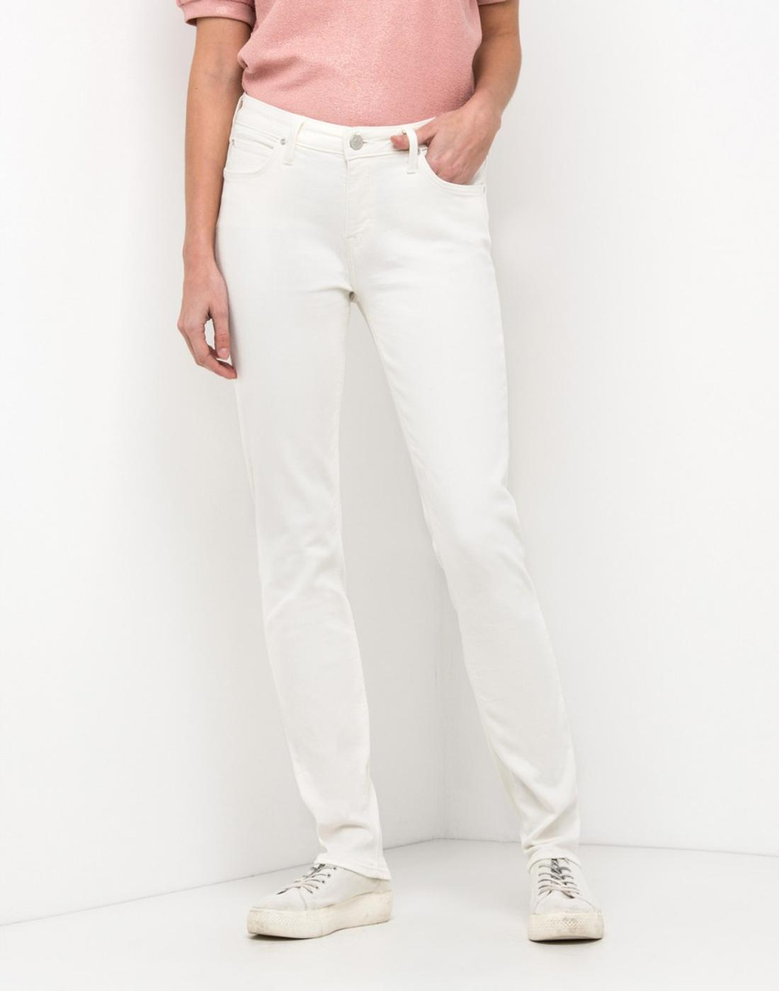 Elly LEE JEANS Womens Retro Mod Slim Jeans in Ecru
