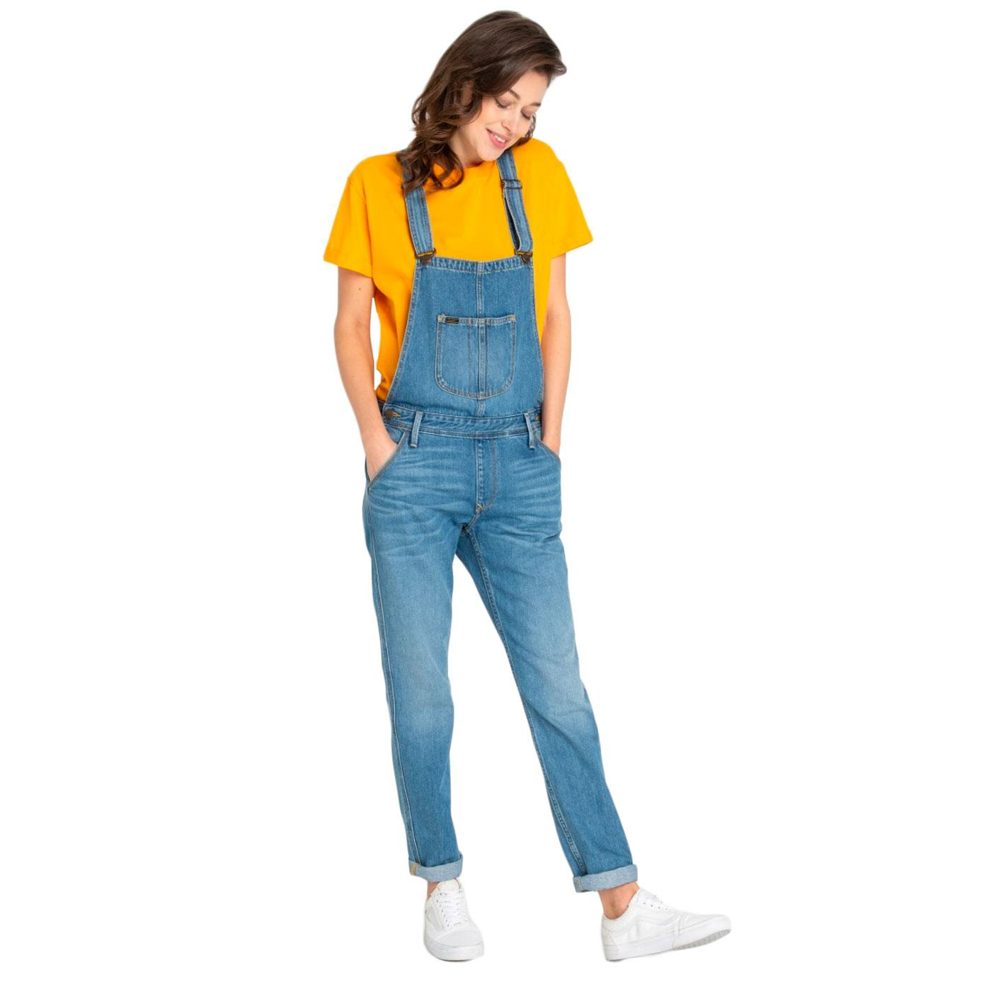 LEE Retro 1970s Relaxed Bib Dungarees (Flick Mid)