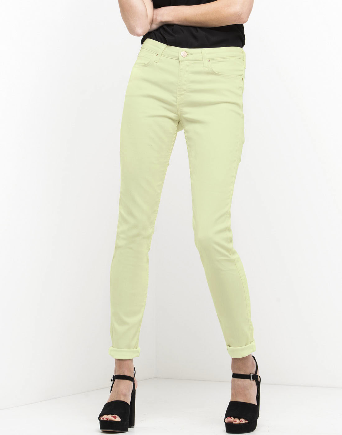 Jodee LEE Retro Super Skinny Denim Jeans LIME