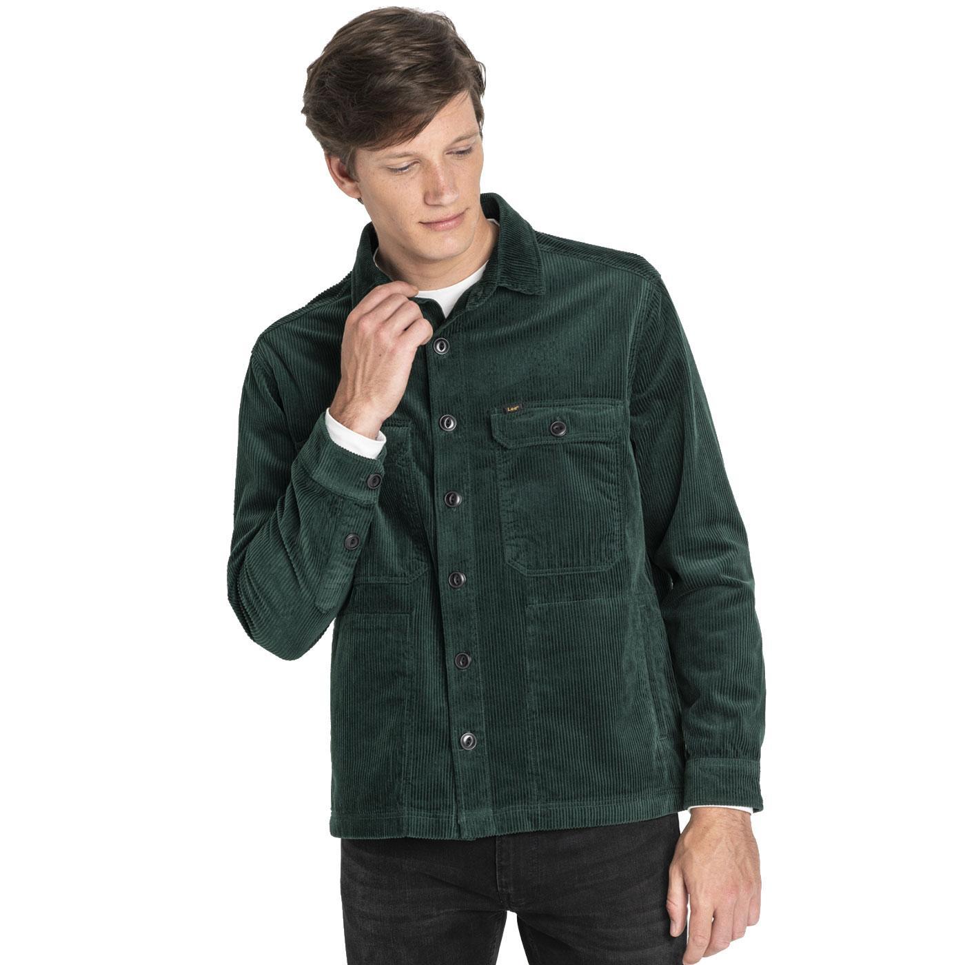 LEE JEANS Mens Retro Jumbo Cord Overshirt Jacket P