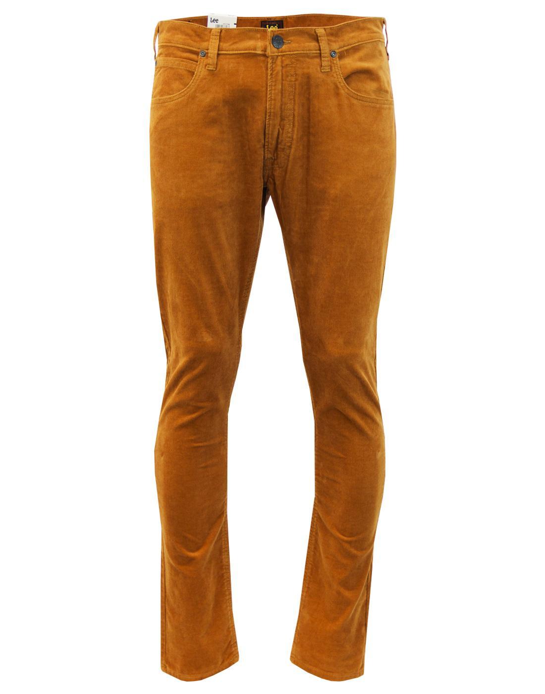 Luke LEE Retro Mod Slim Tapered Cord Jeans COGNAC