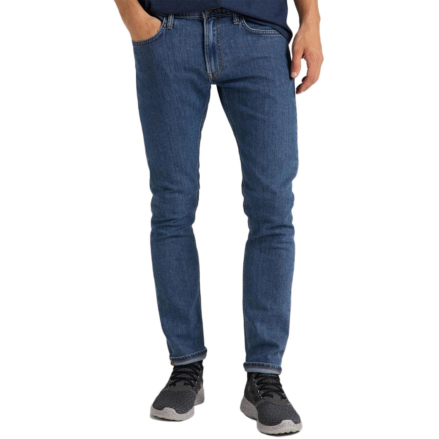 Luke LEE JEANS Retro Slim Tapered Jeans MID STONE