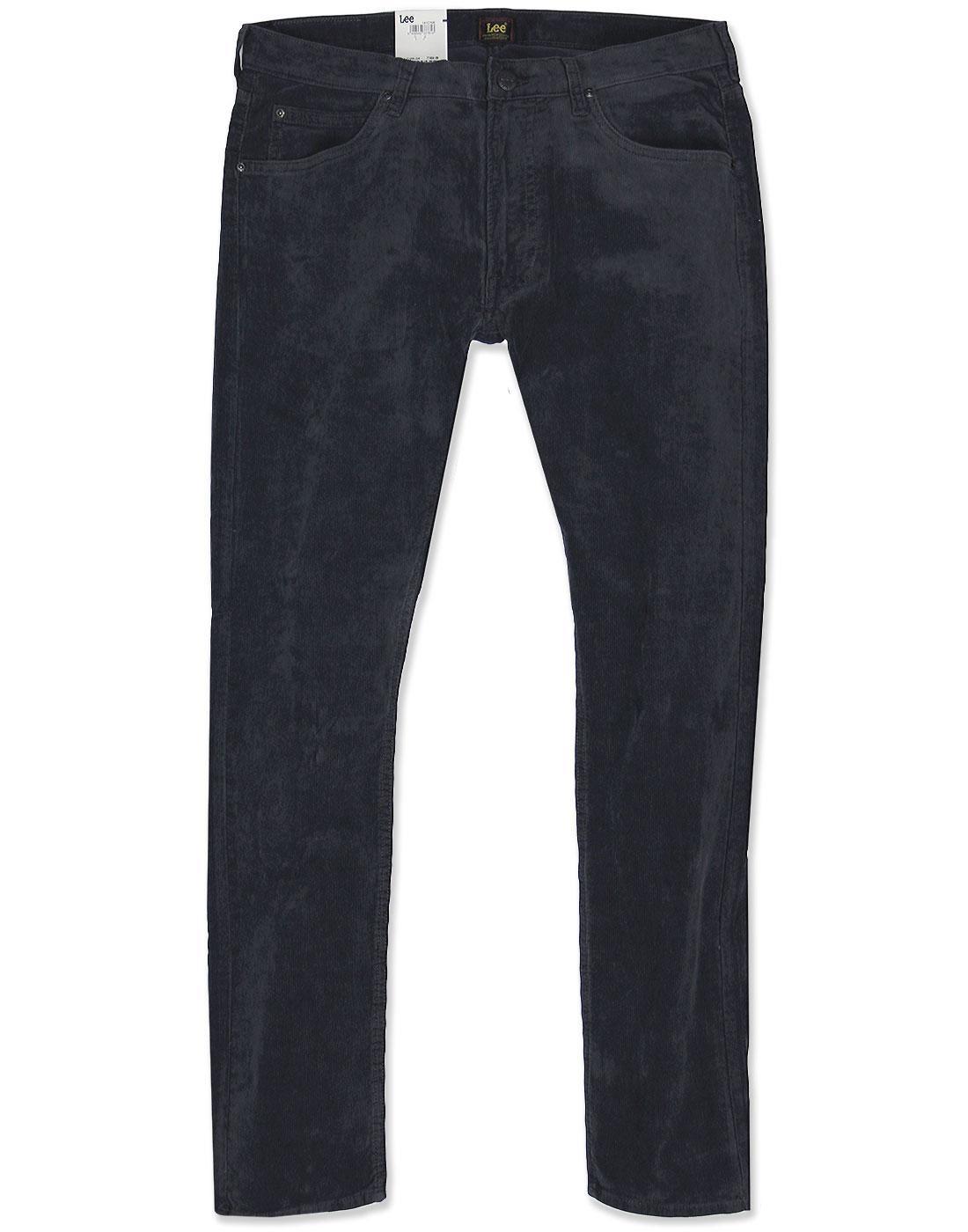 Luke LEE Retro Mod Slim Tapered Cord Jeans GREY