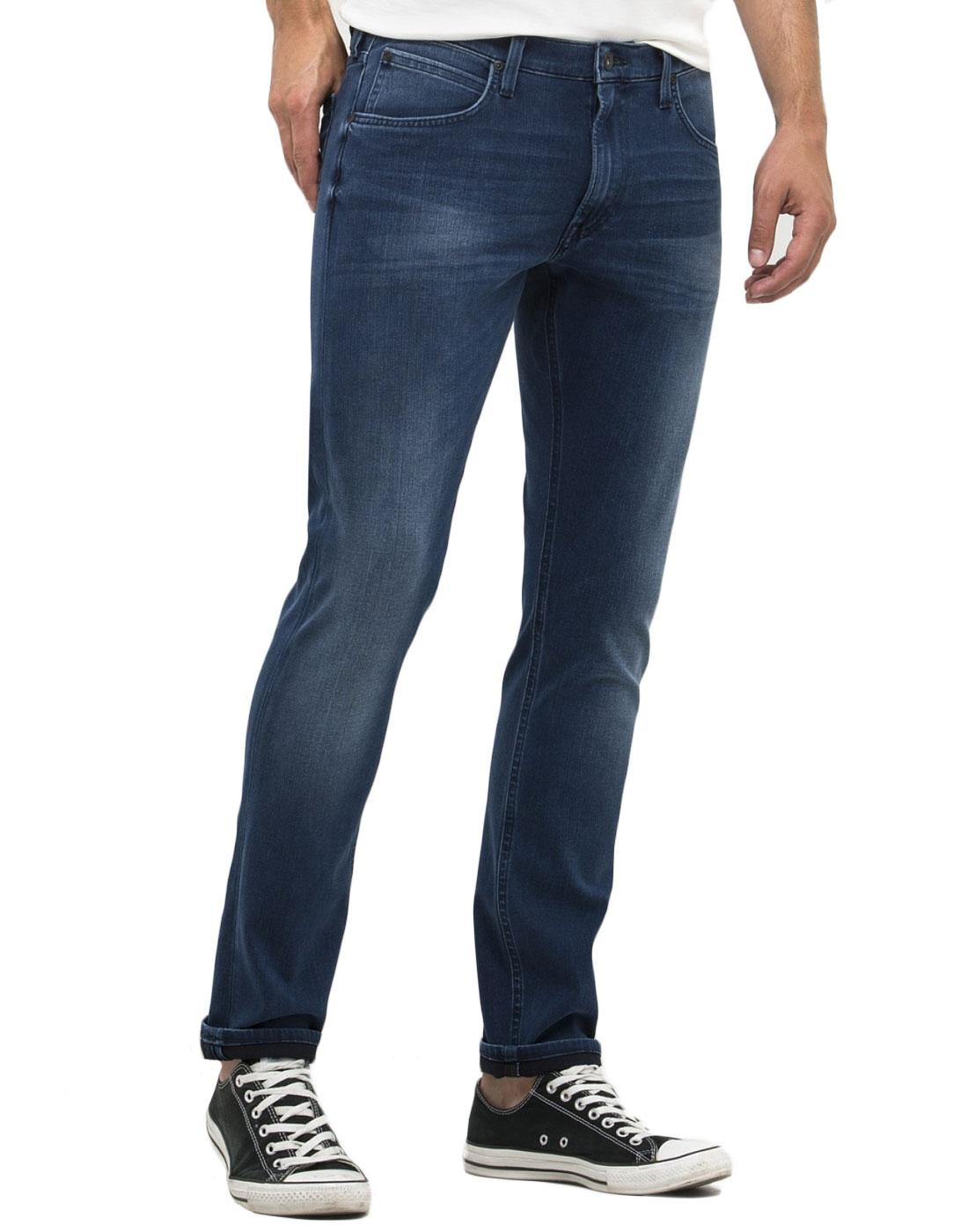 Luke LEE Retro Mod Slim Tapered Skyline Blue Jeans