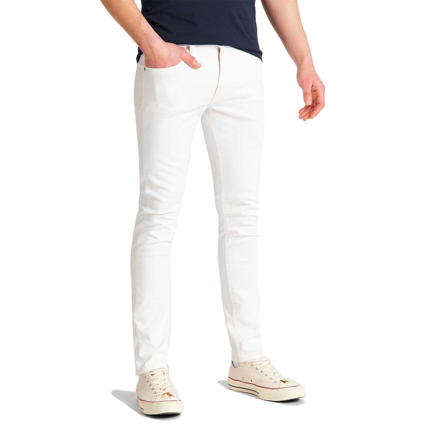 Luke LEE JEANS Retro Mod Slim Tapered White Jeans