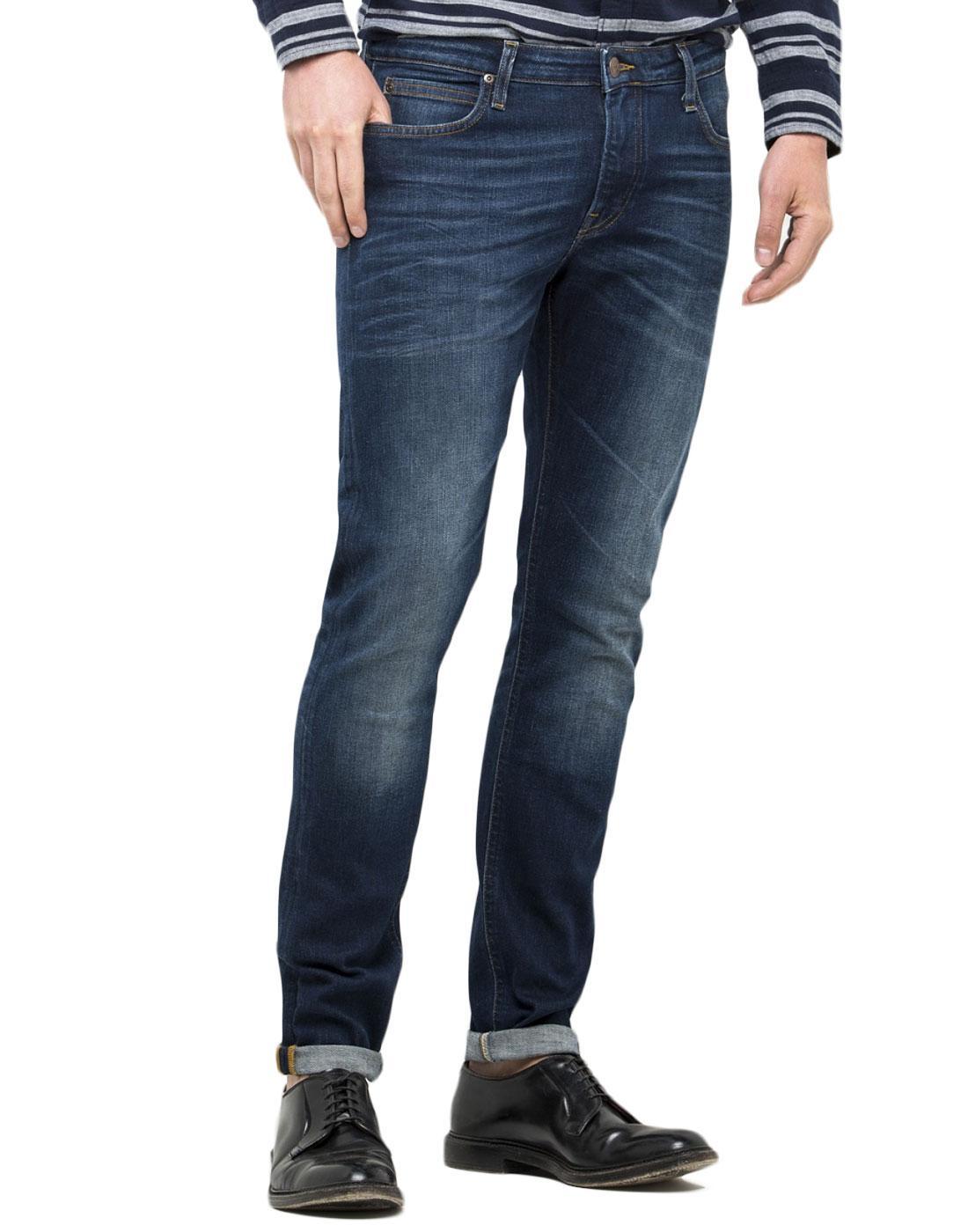 Malone LEE Mod Bright Blue Stretch Skinny Jeans