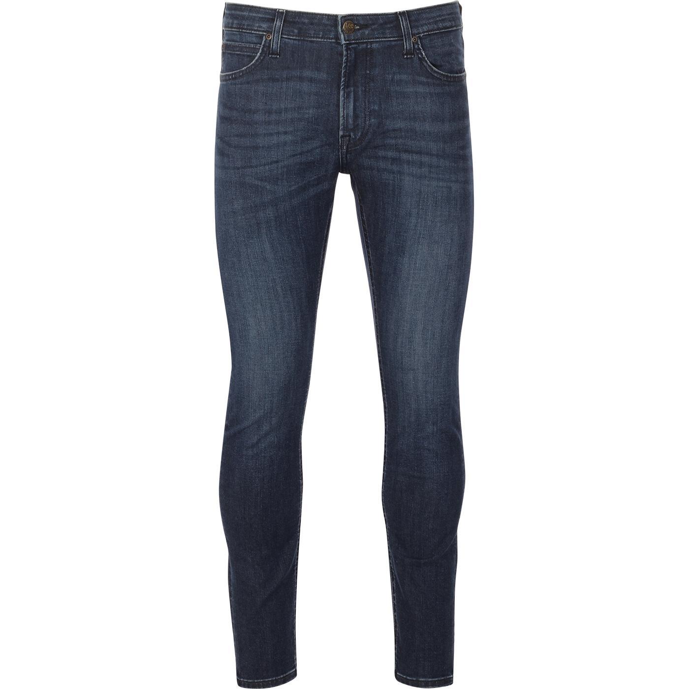 Malone LEE Mod Dark Blue Skinny Drainpipe Jeans