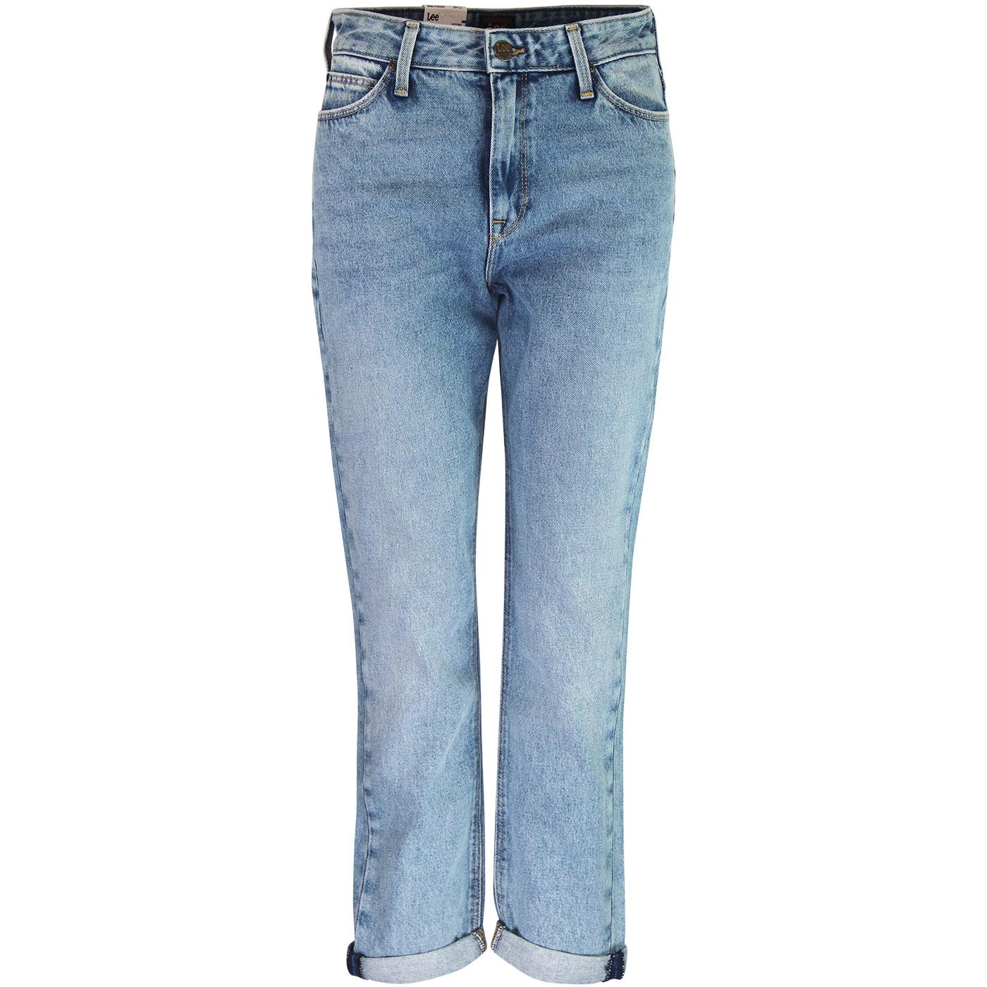 Mom Straight LEE Curved High Waist Jeans GASLIGHT