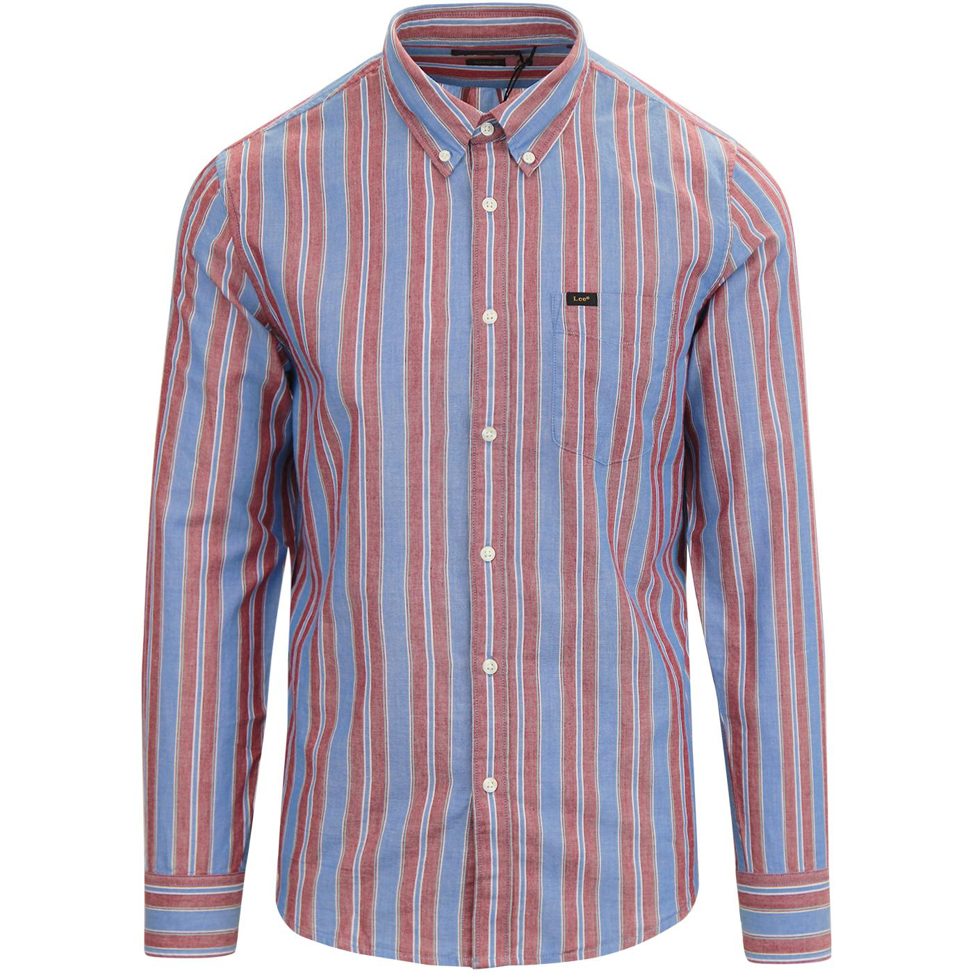 LEE Retro Mod Button Down Multi Stripe Shirt (DB)