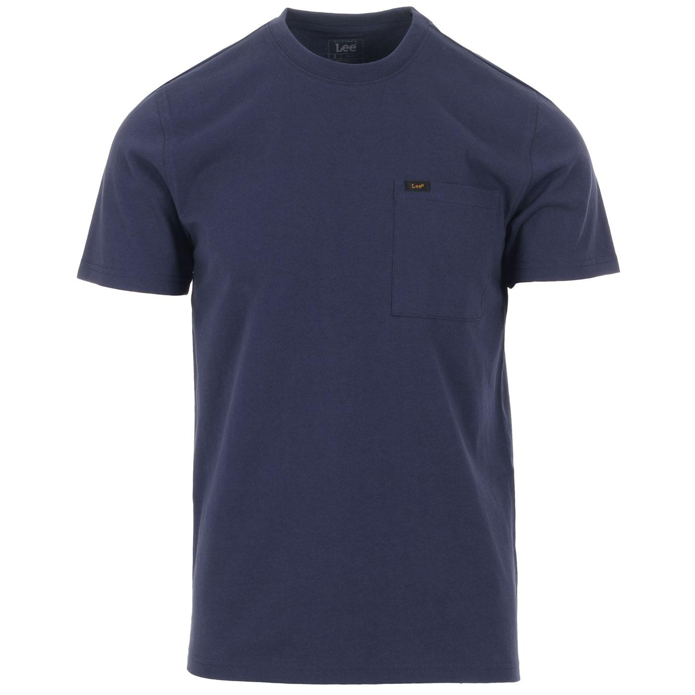 LEE JEANS Retro Cotton Pocket T-shirt - Dark Navy