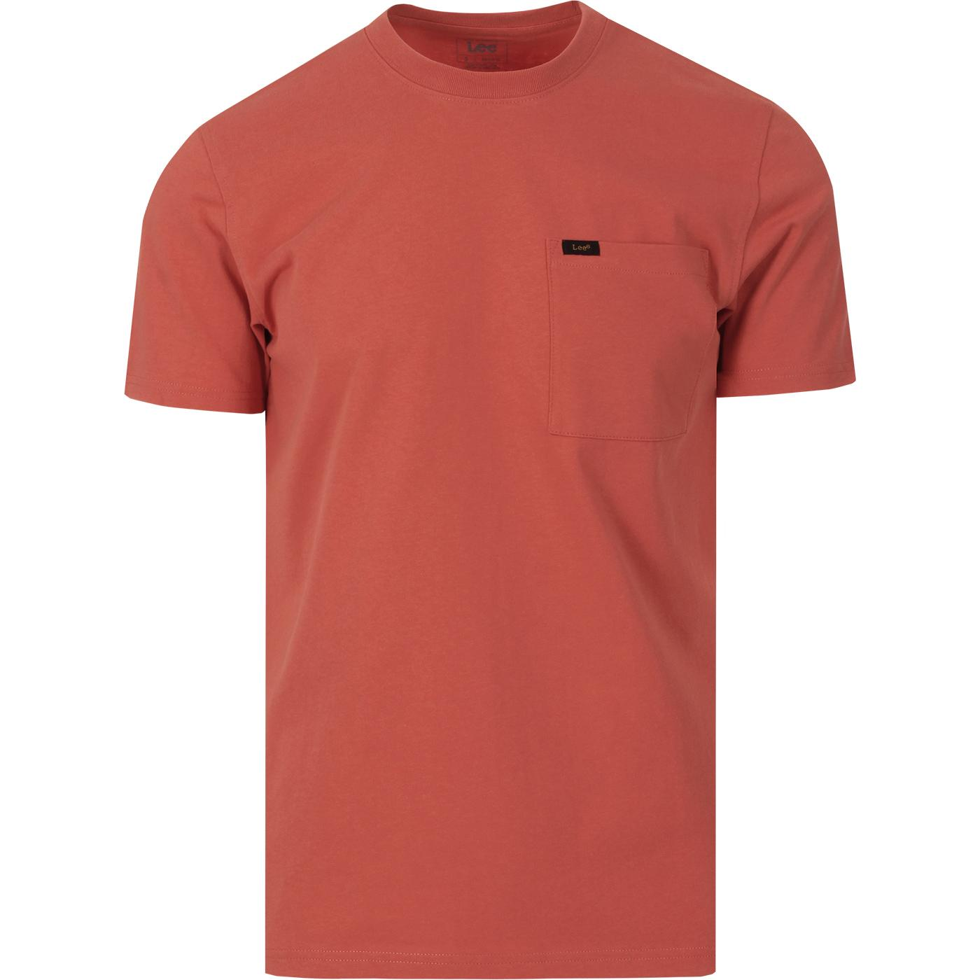 LEE JEANS Men's Retro Crew Pocket Tee (Paprika)