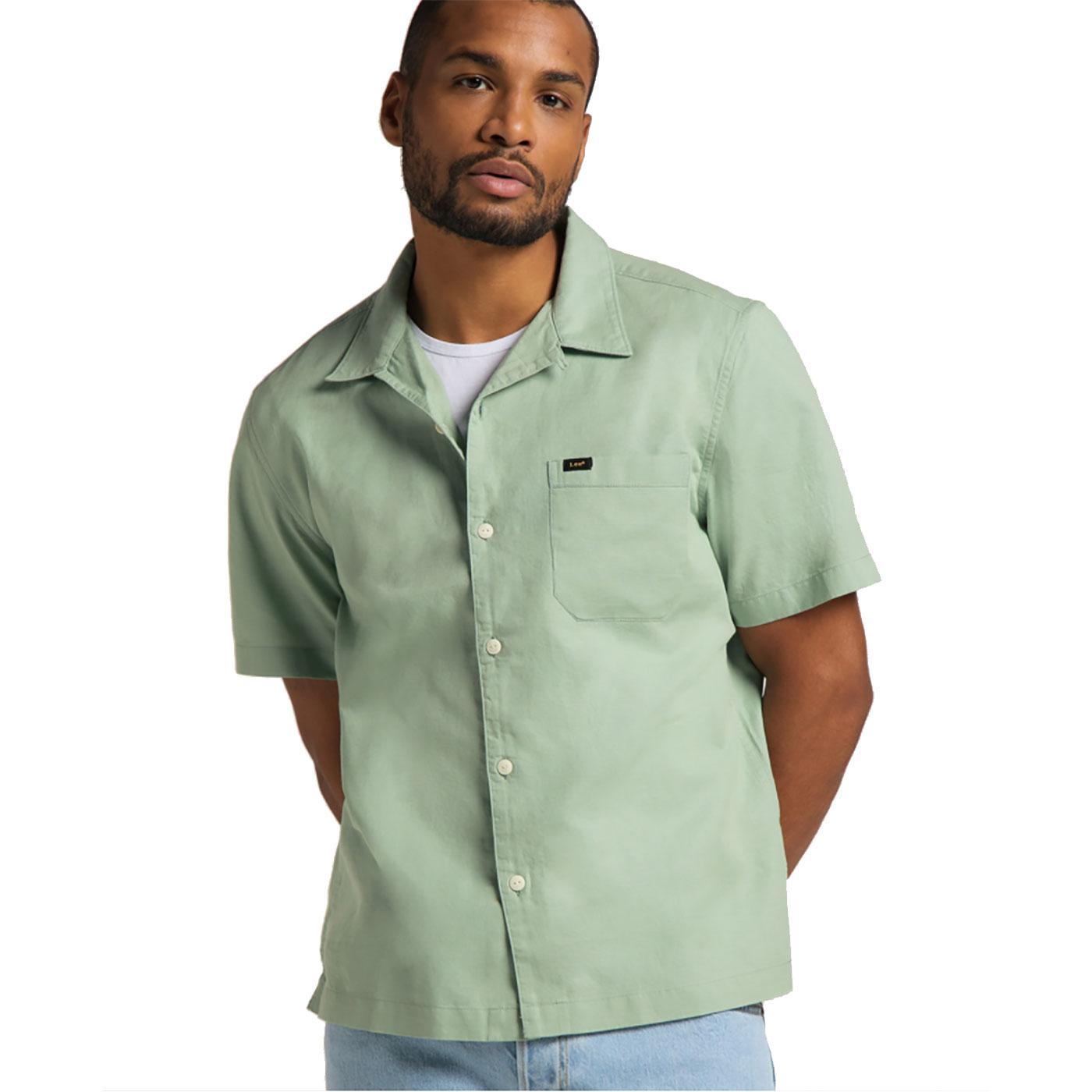 LEE JEANS Relaxed Fit Resort Collar Linen Shirt GG