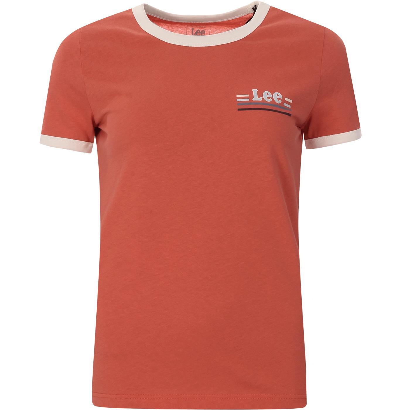 LEE Women's Retro 70s Ringer T-shirt (Paprika)