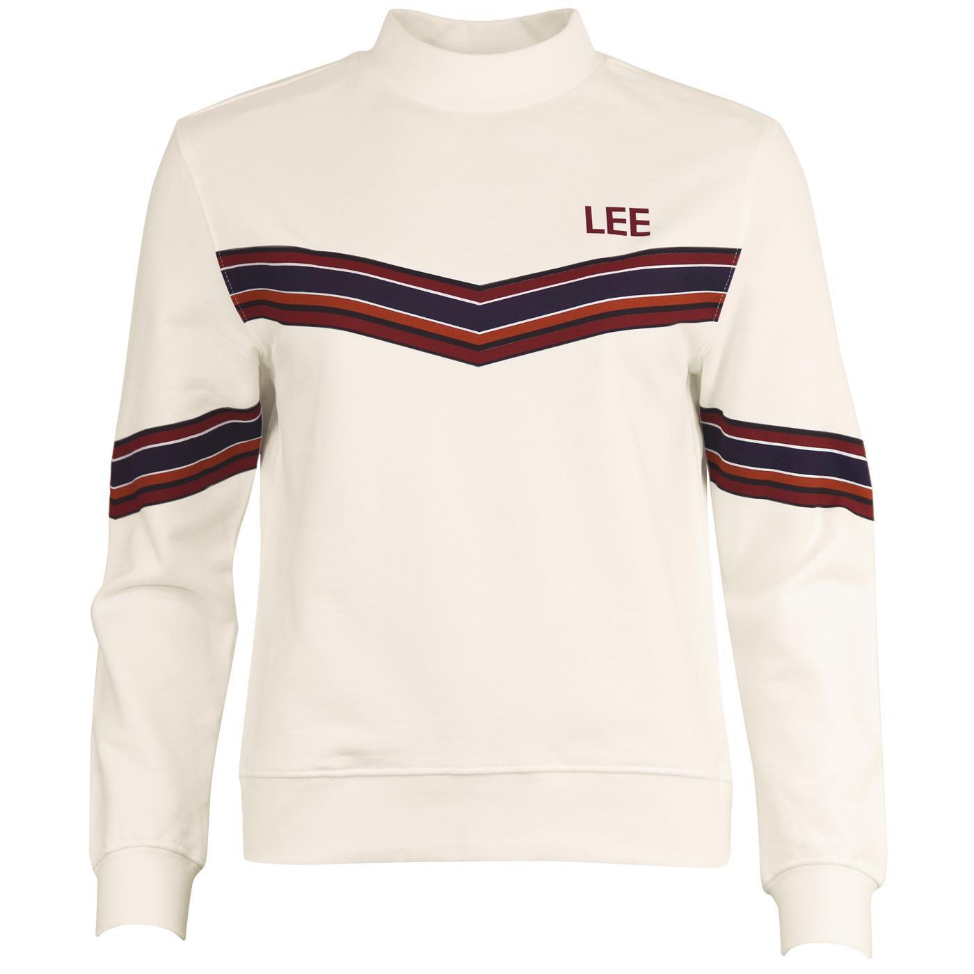 LEE JEANS Women's 70's Chevron Stripe Sweater CD