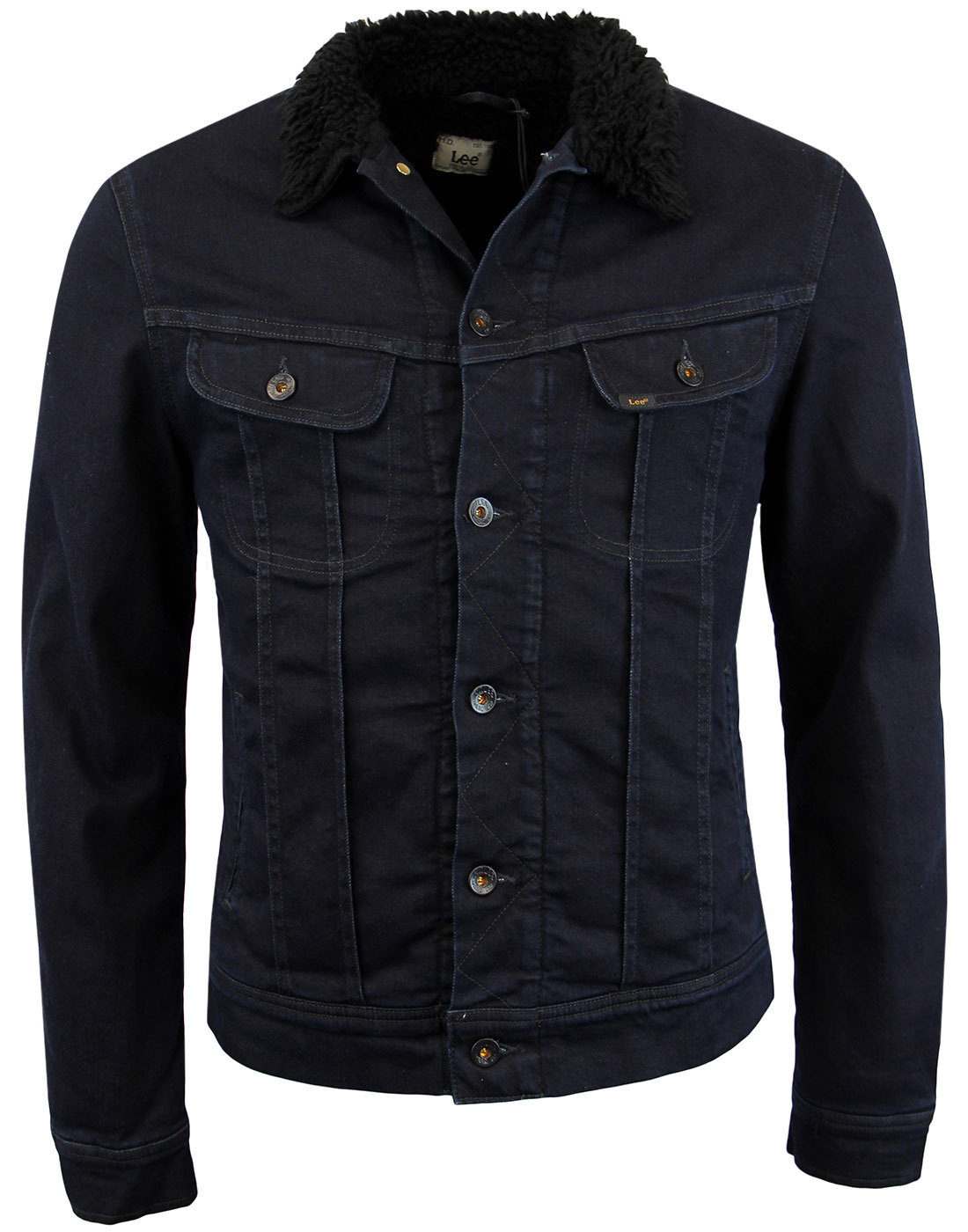 LEE Sherpa Rider Retro Mod Dark Prime Denim Jacket